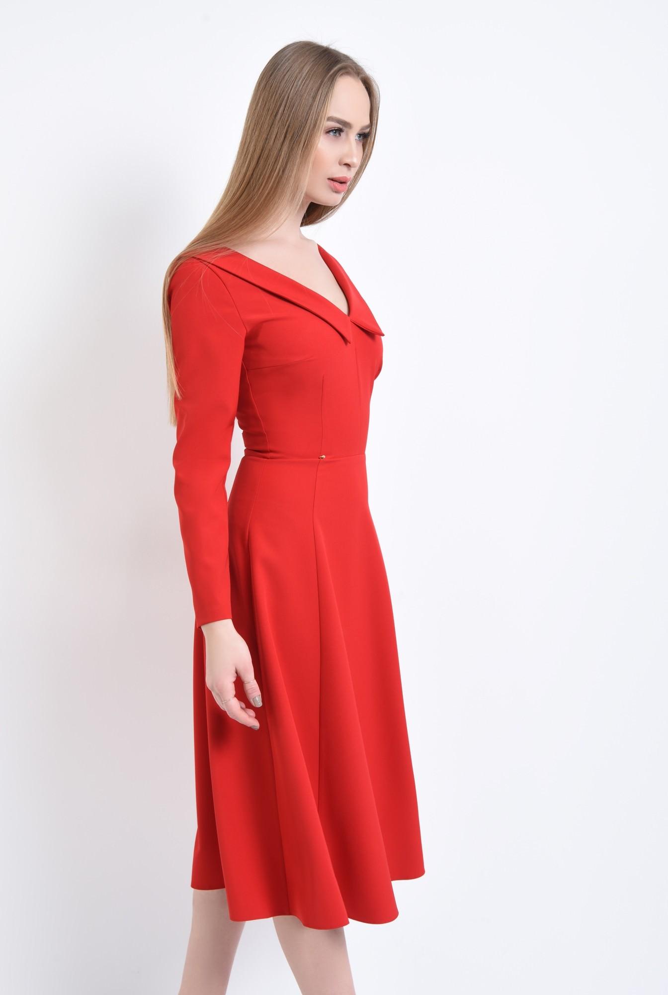 3 - Rochie de zi rosie, cloche