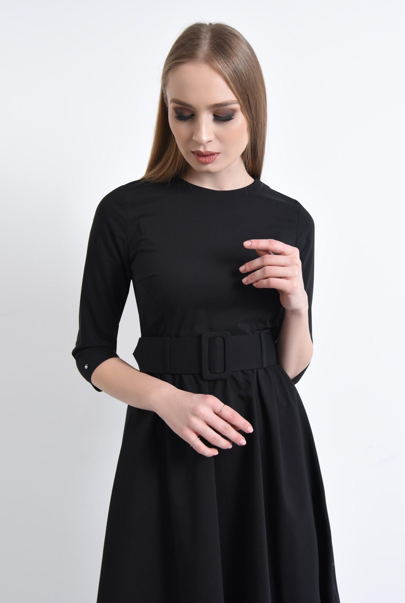 2 - 360 - Rochie casual, centura material textil