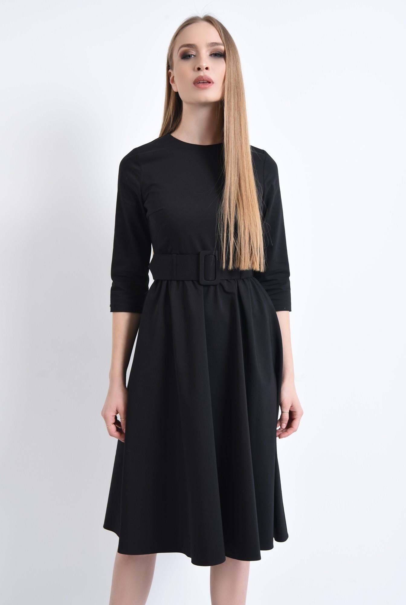 0 - 360 - Rochie casual, centura material textil