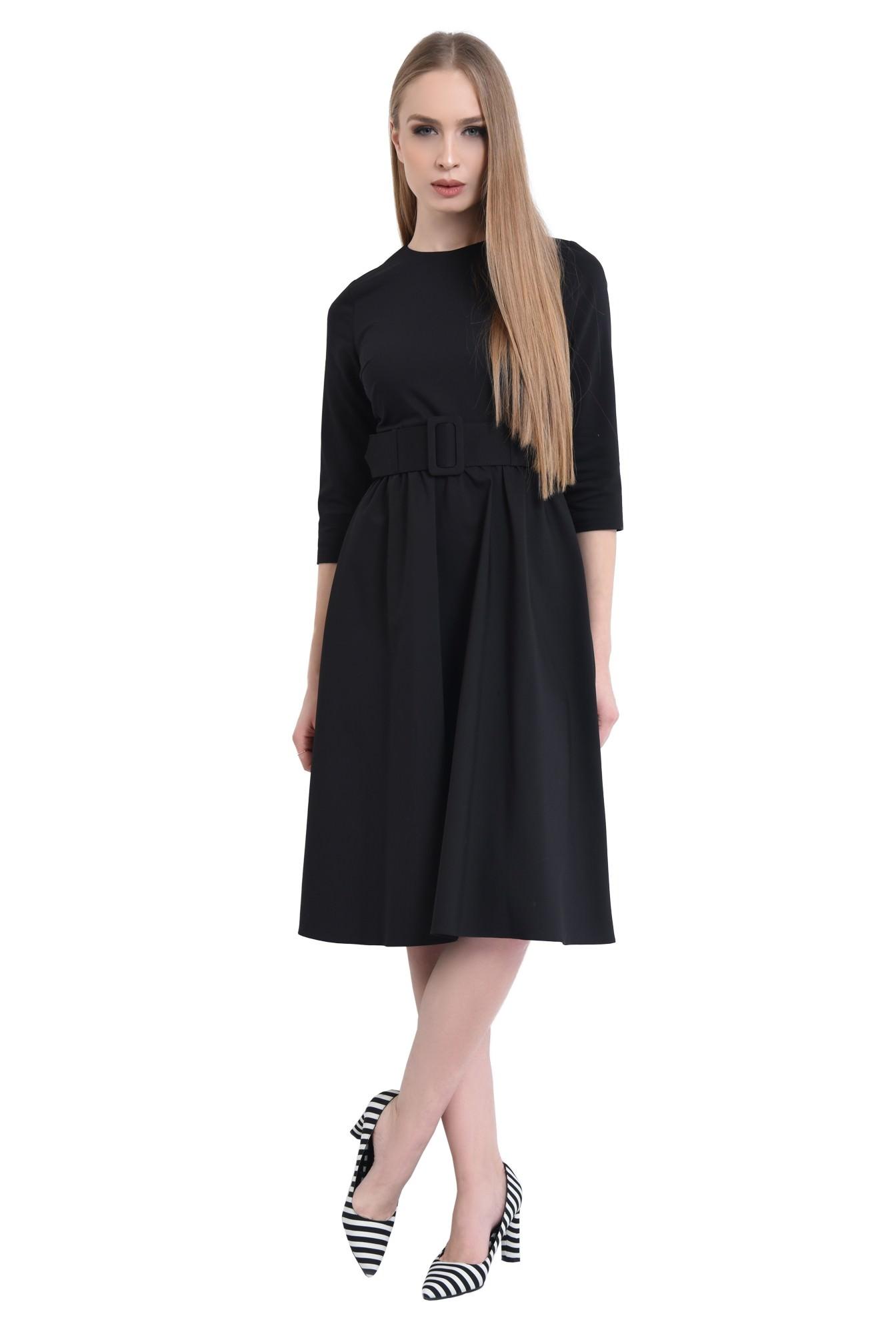 3 - 360 - Rochie casual, centura material textil