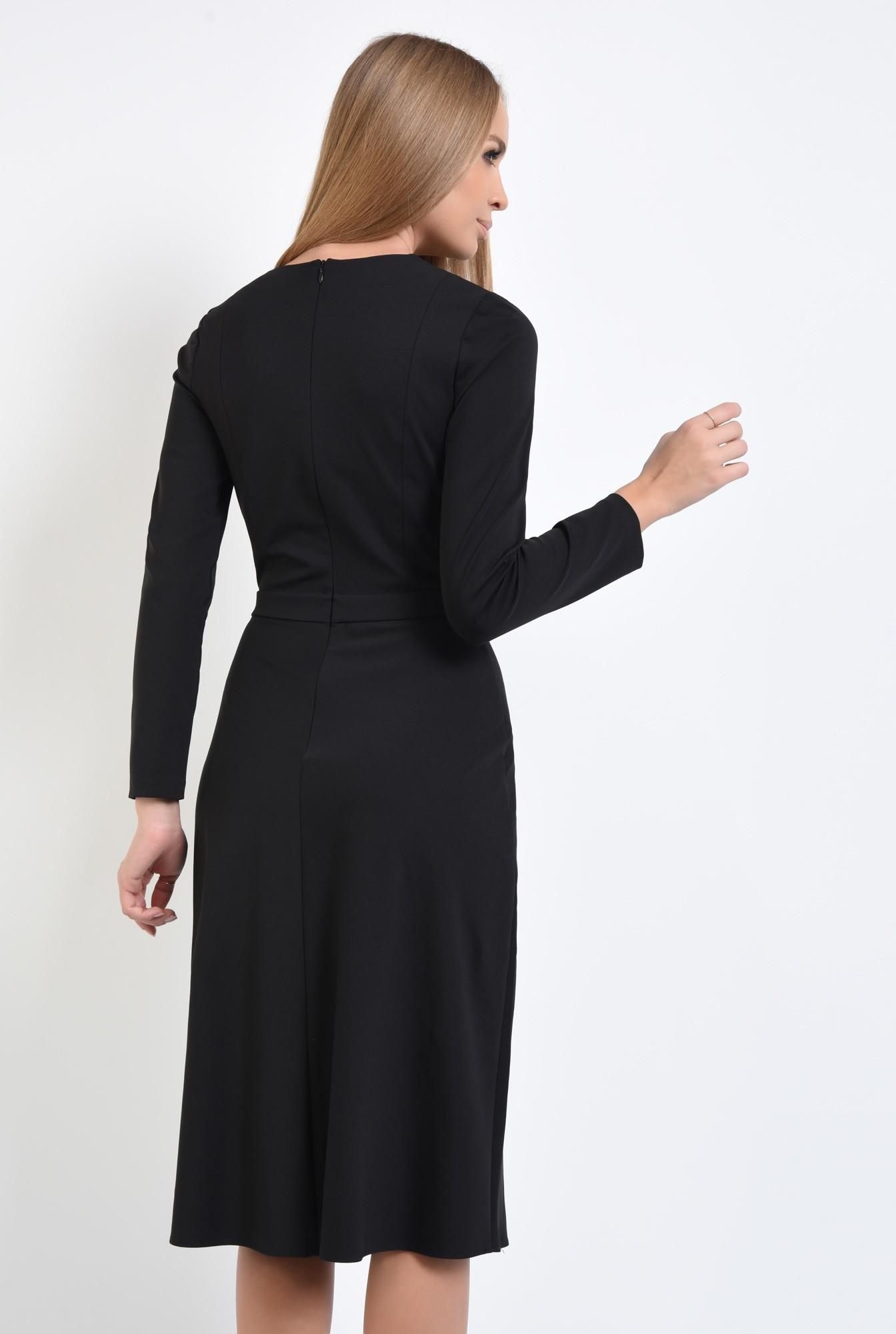 1 - rochie de zi, A-line, fermoar, decolteu rotund la baza gatului