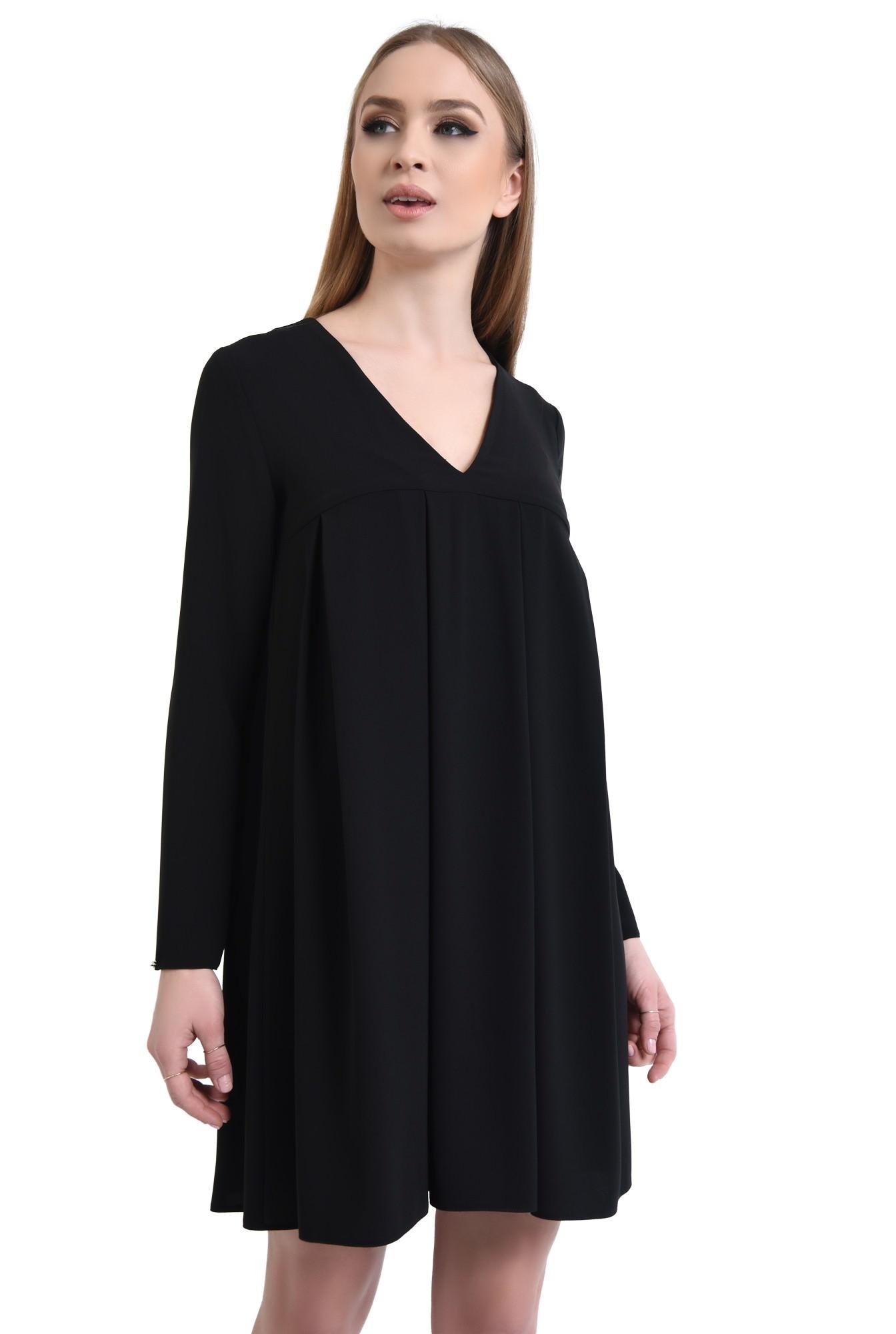 0 - Rochie casual neagra, mini