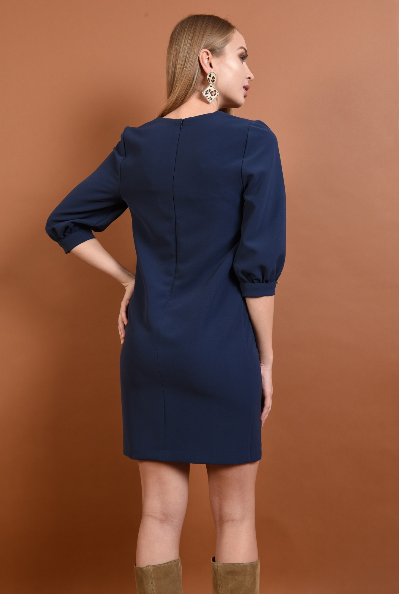 1 - rochie casual, scurta, decolteu, anchior, rochii de dama online