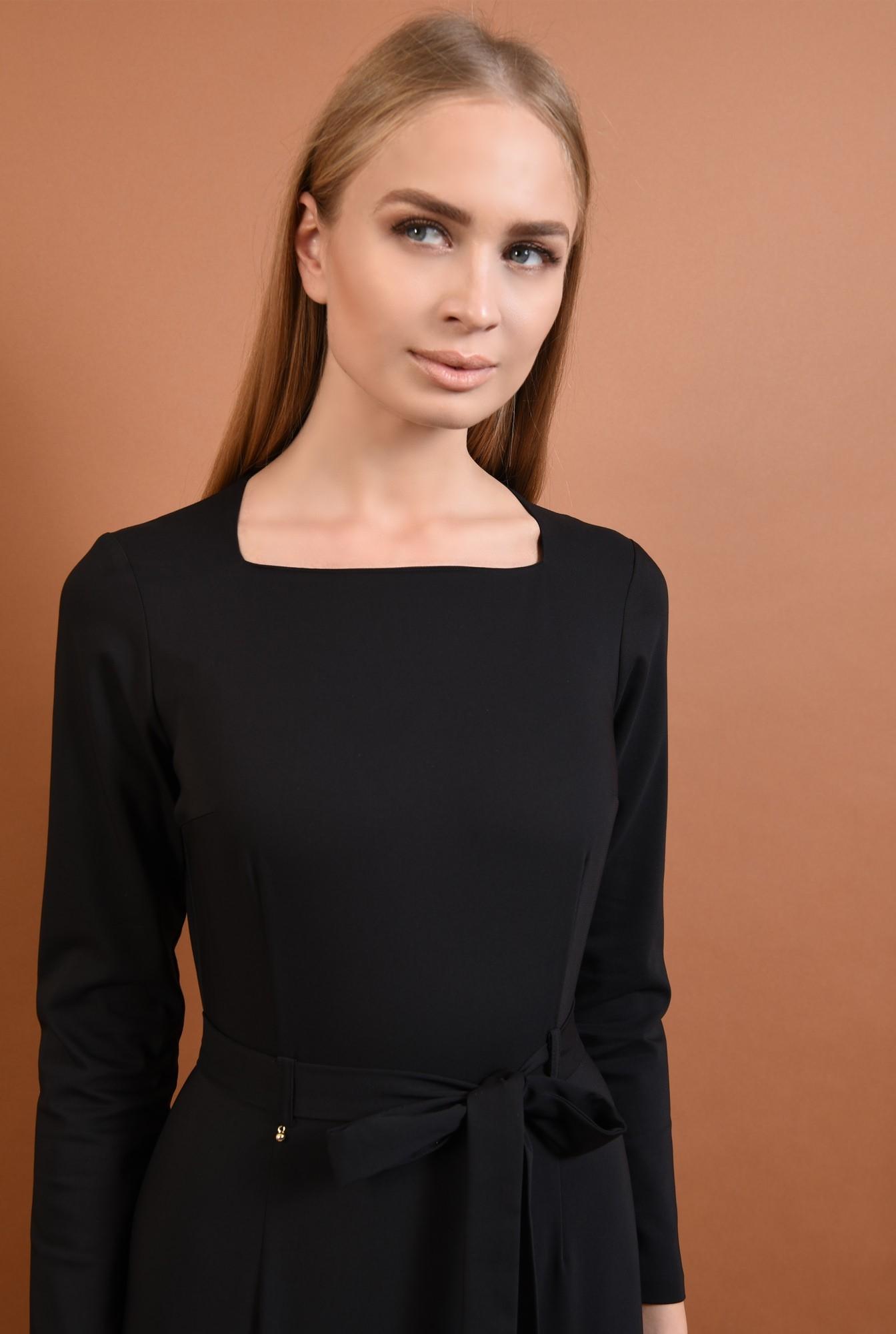 2 - 360 - rochie neagra, casual, rochii online, croi conic, cordon, funda