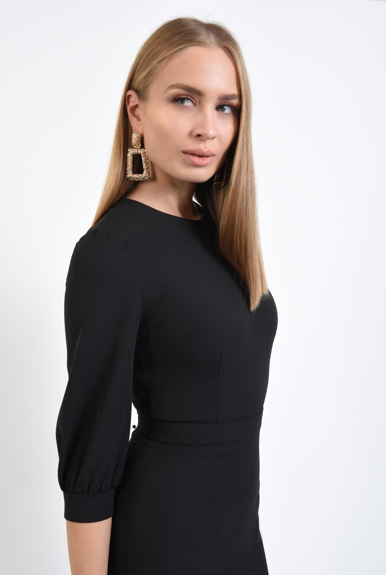 2 - 360 - rochie eleganta conica, betelie ingusta, decolteu rotund la baza gatului. rochii online