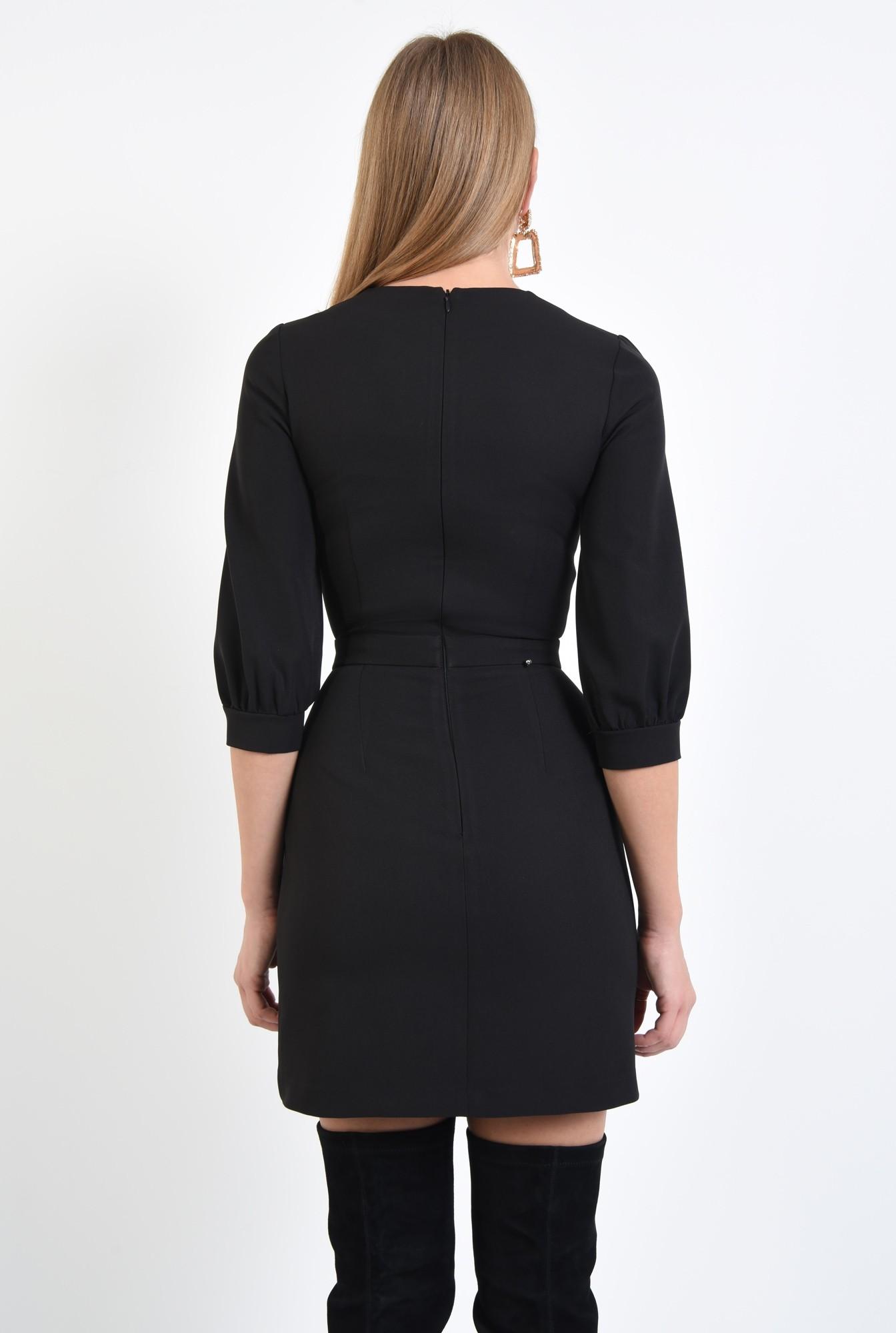 1 - 360 - rochie eleganta conica, betelie ingusta, decolteu rotund la baza gatului. rochii online