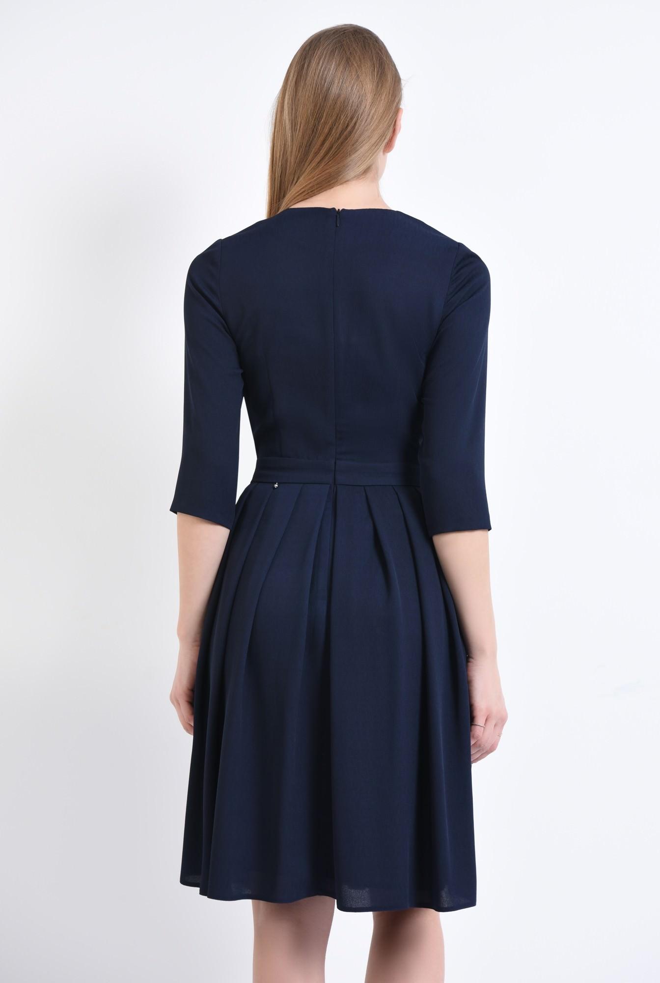 1 - Rochie casual cu funda, bleumarin