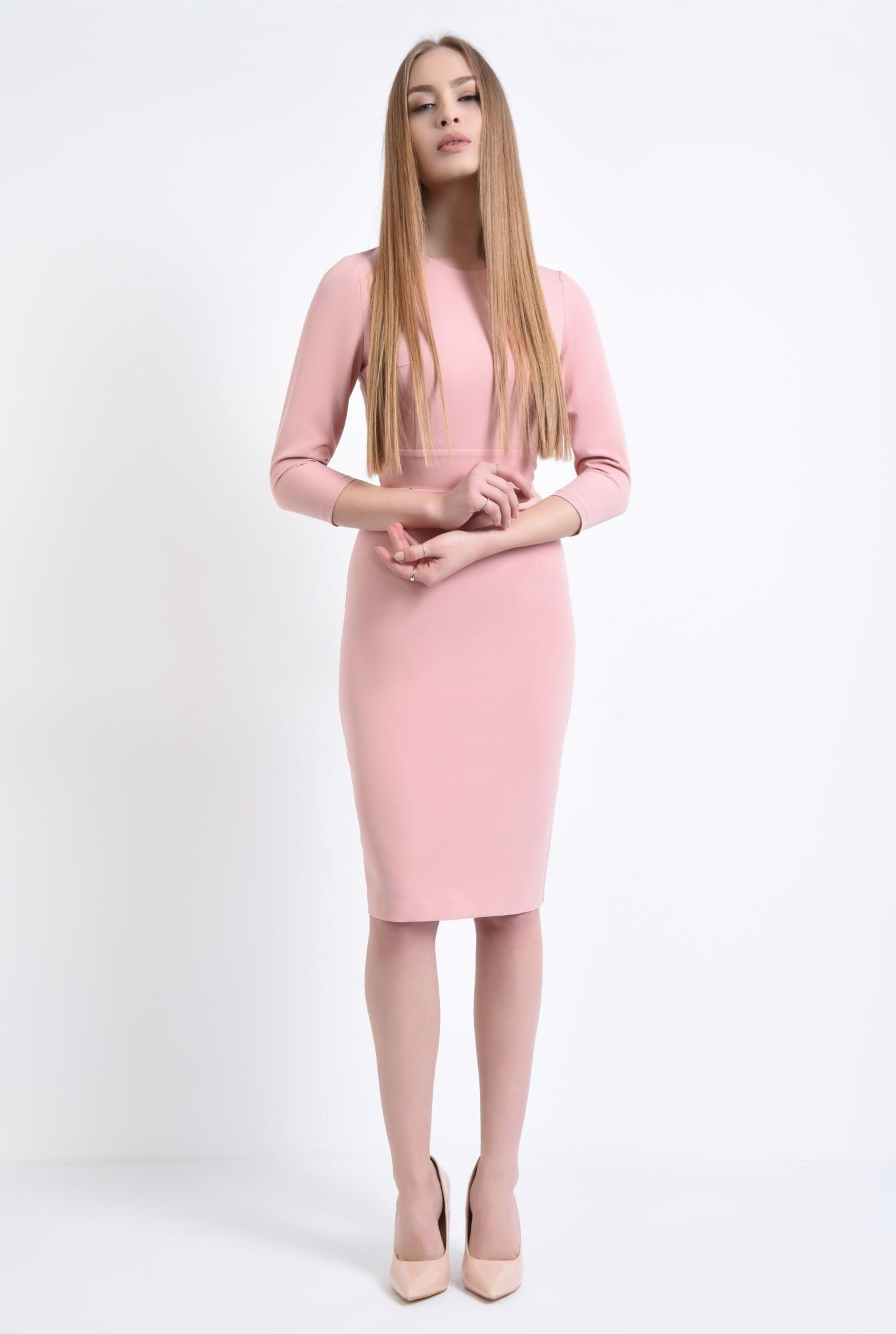 3 - Rochie de zi, roz