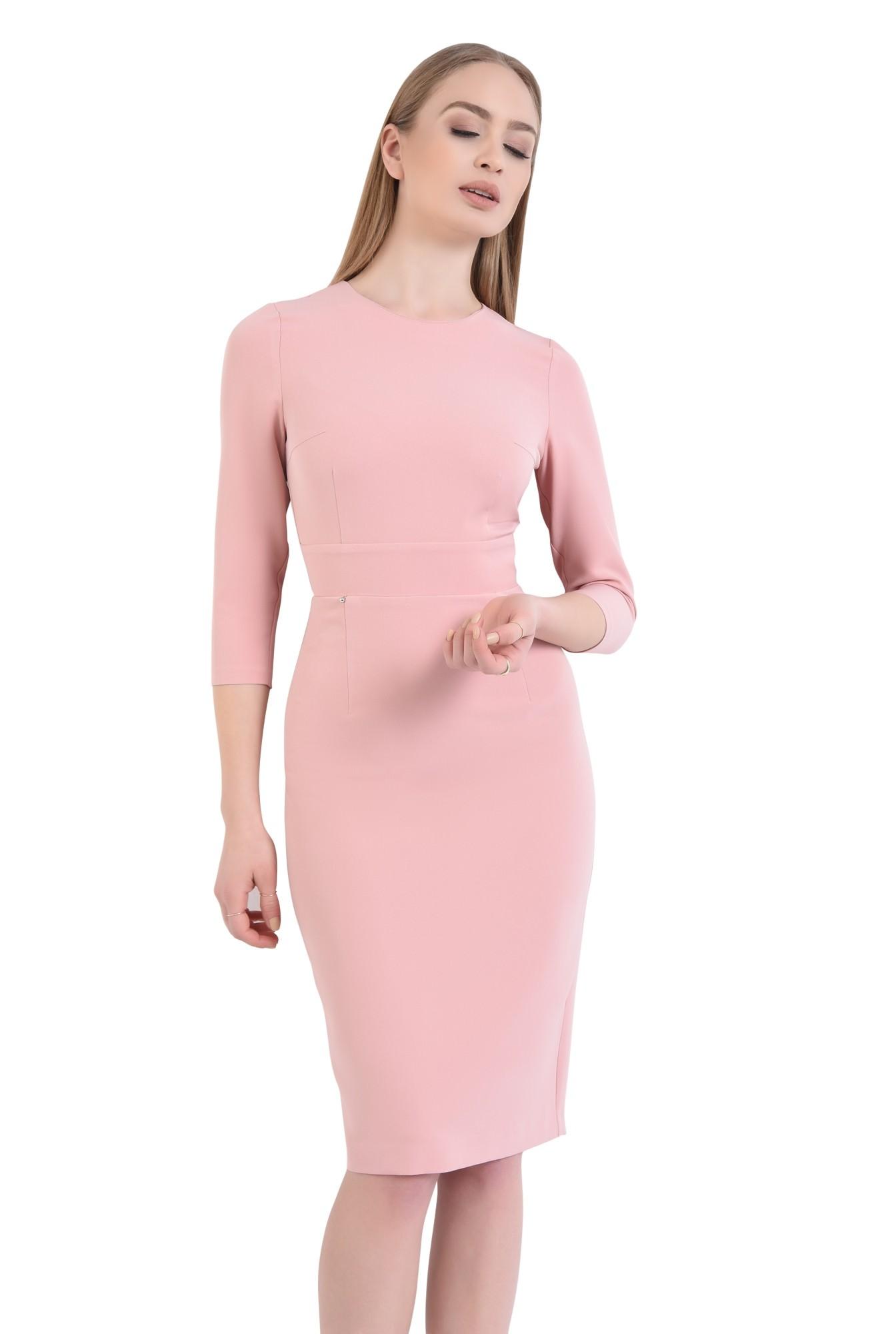 0 - Rochie de zi, roz