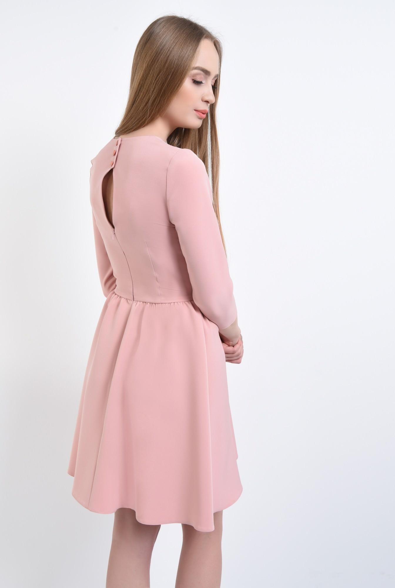 1 - Rochie de zi, roz
