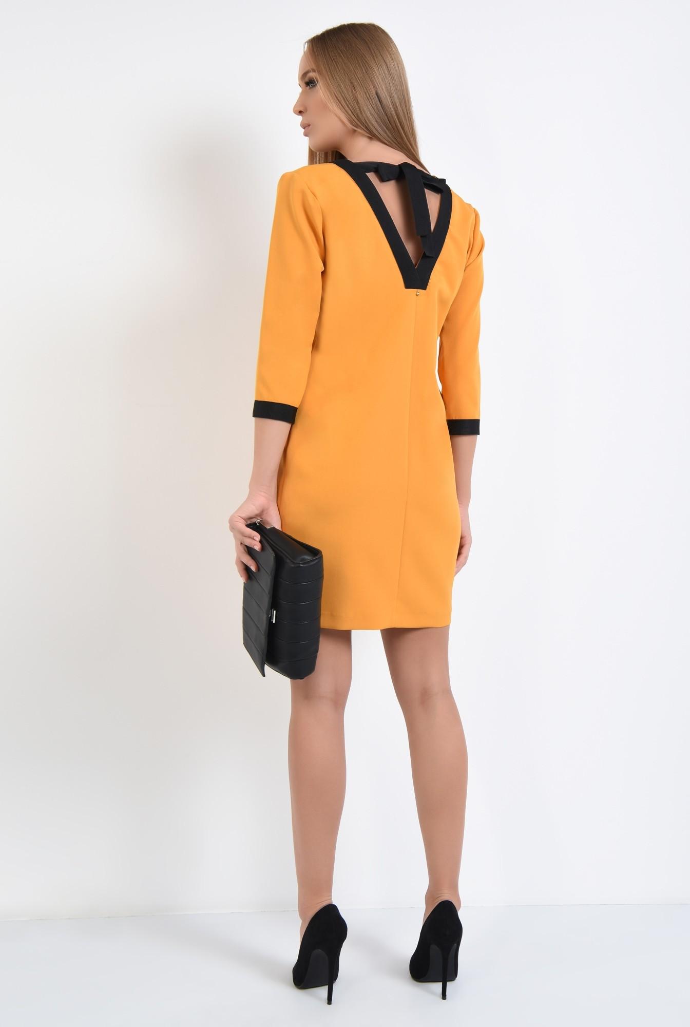 1 - rochie casual, dreapta, scurta, funda la spate