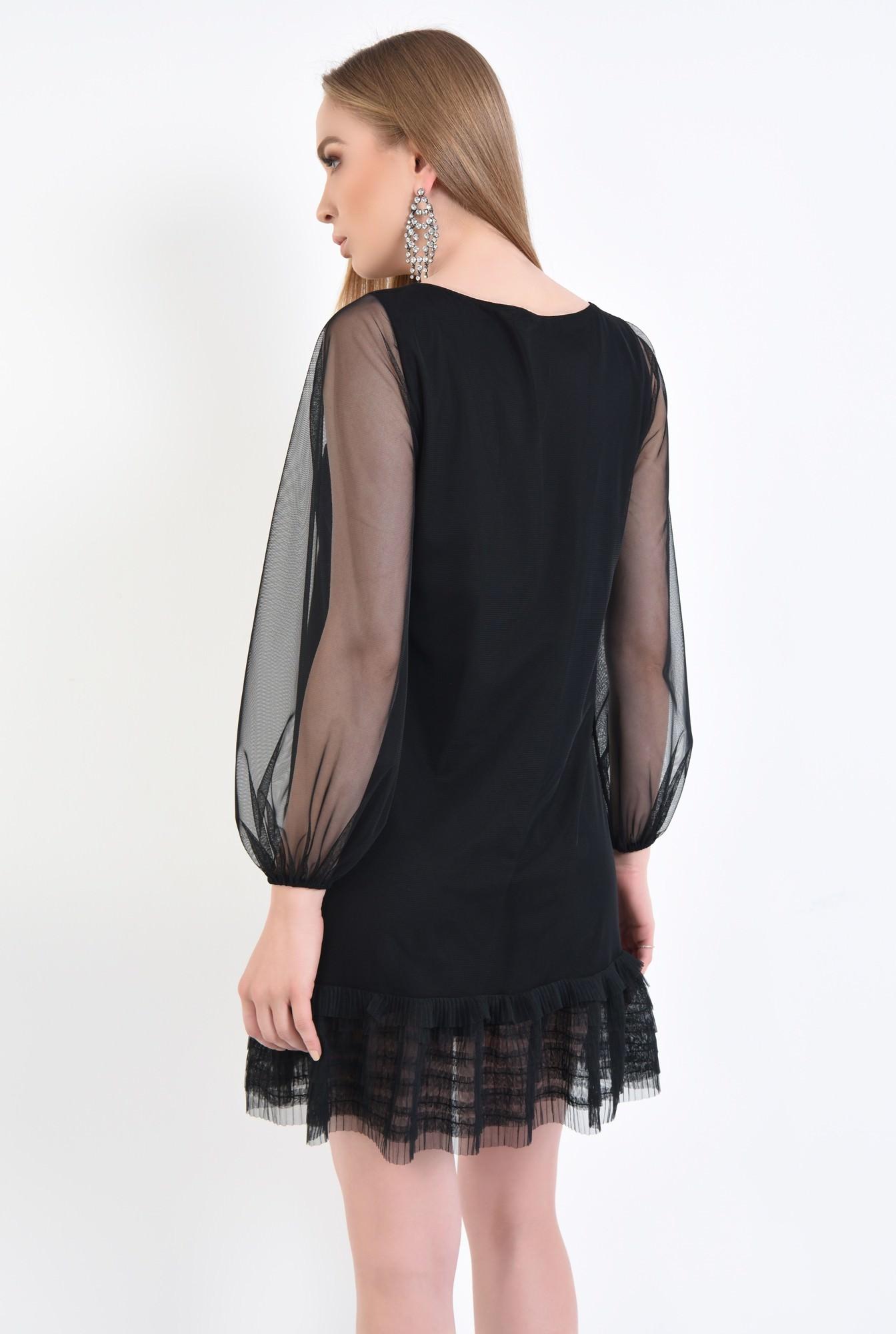 1 - Rochie de seara, tulle negru