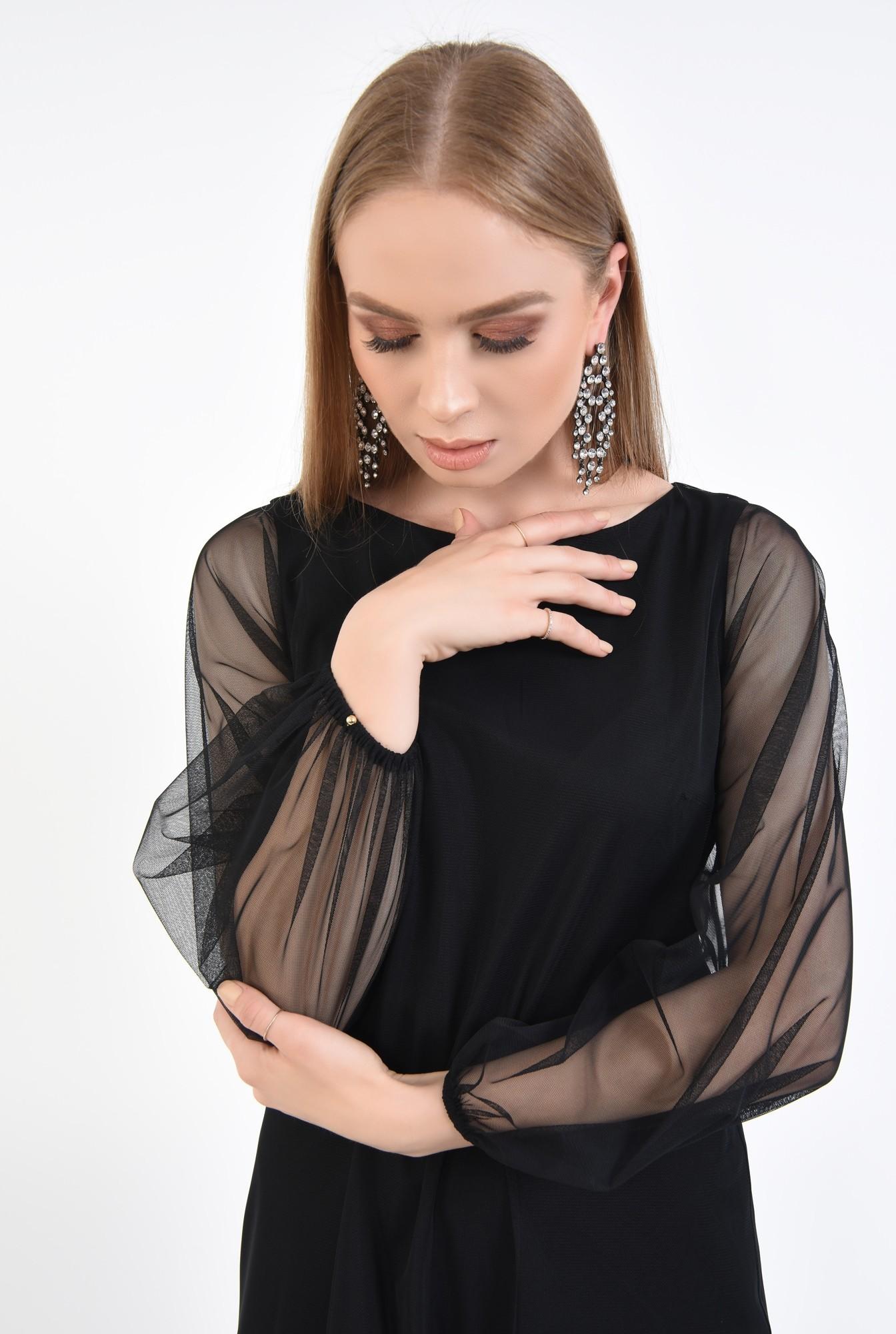 2 - Rochie de seara, tulle negru