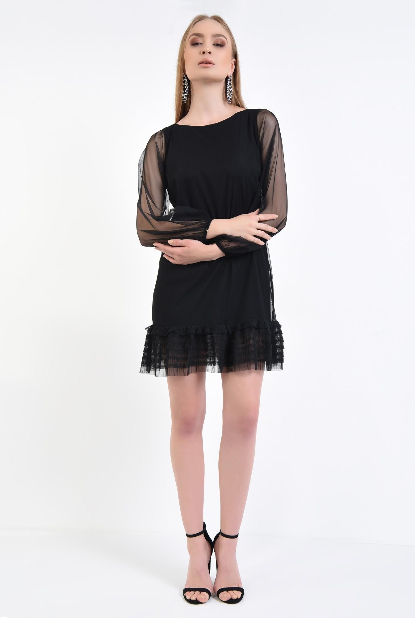 3 - Rochie de seara, tulle negru