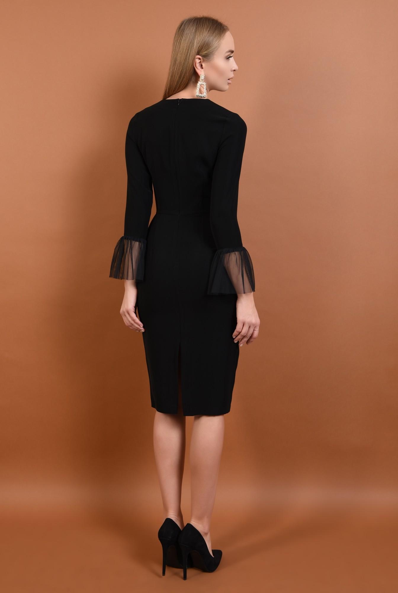 1 - 360 - rochie eleganta, bodycon, mansete transparente, rochii online, tul