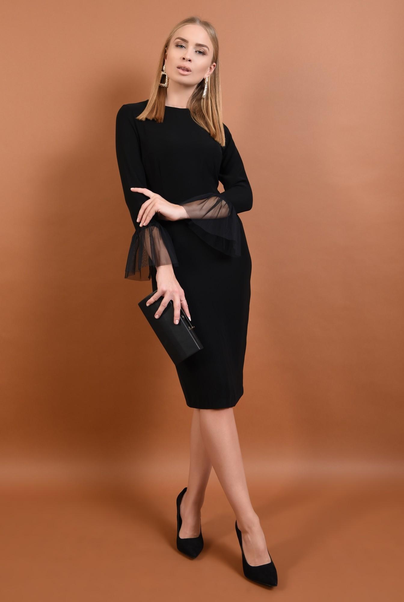 3 - 360 - rochie eleganta, bodycon, mansete transparente, rochii online, tul