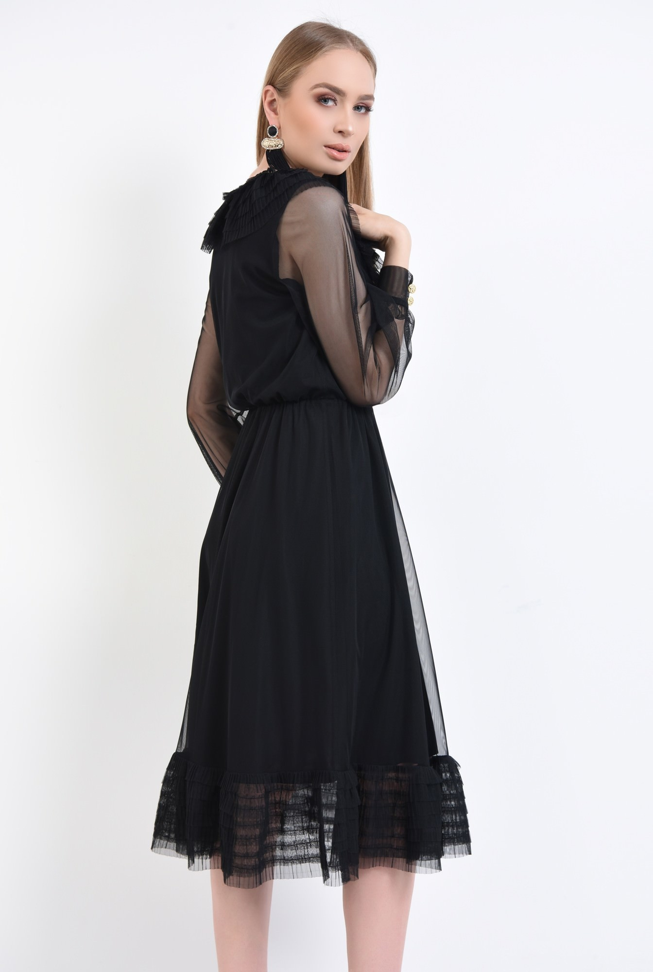 1 - Rochie de ocazie, tulle negru