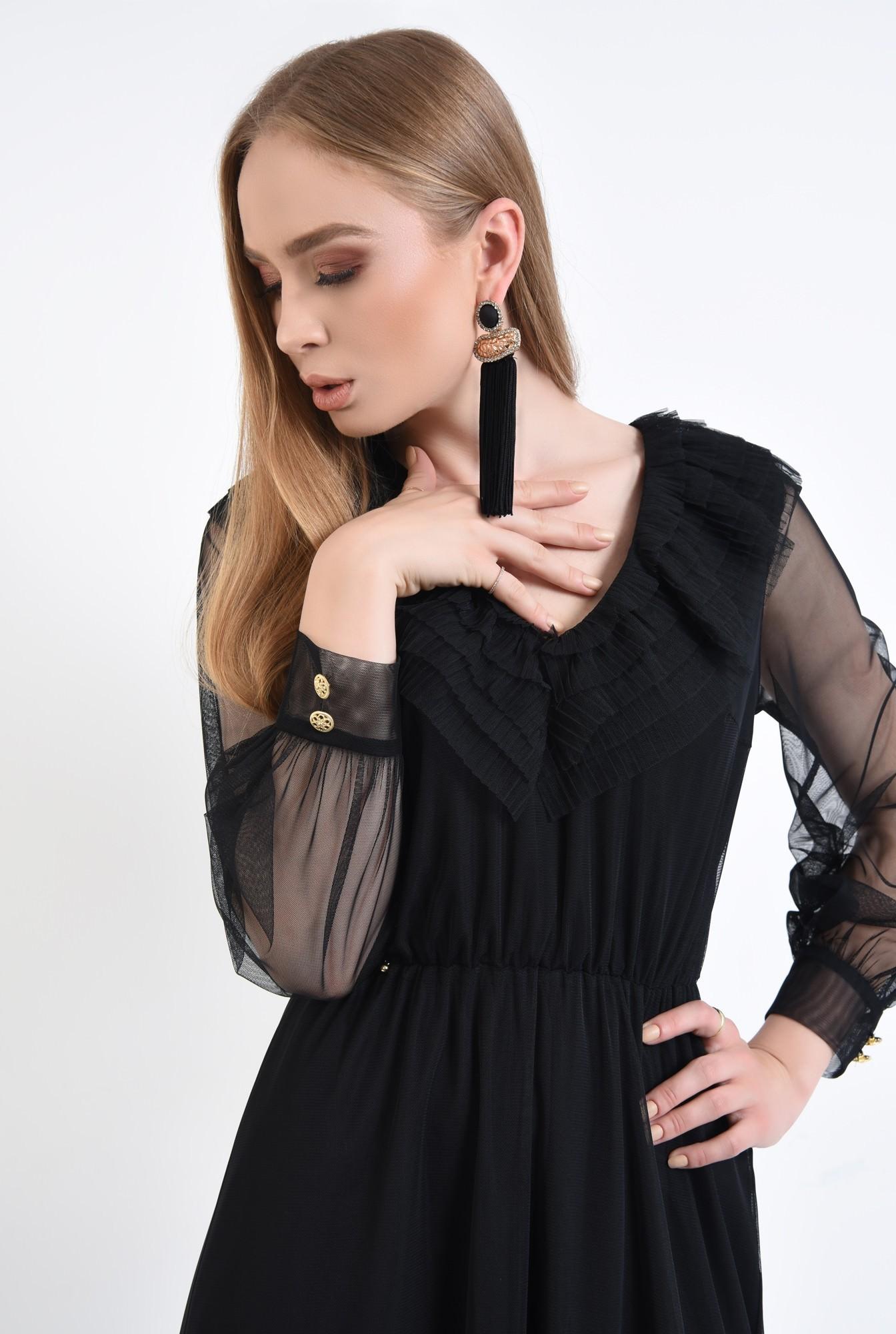 2 - Rochie de ocazie, tulle negru