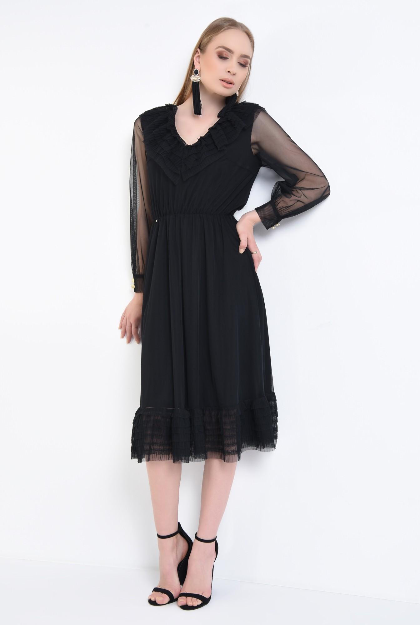 3 - Rochie de ocazie, tulle negru