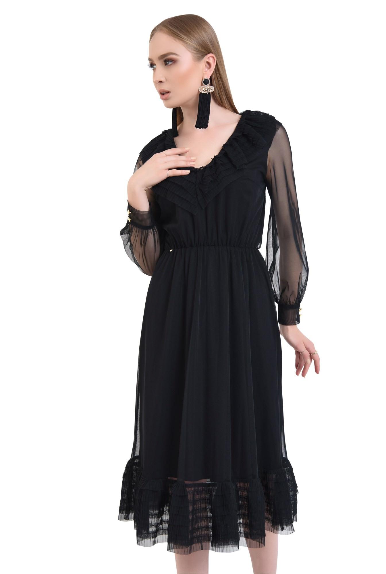 0 - Rochie de ocazie, tulle negru