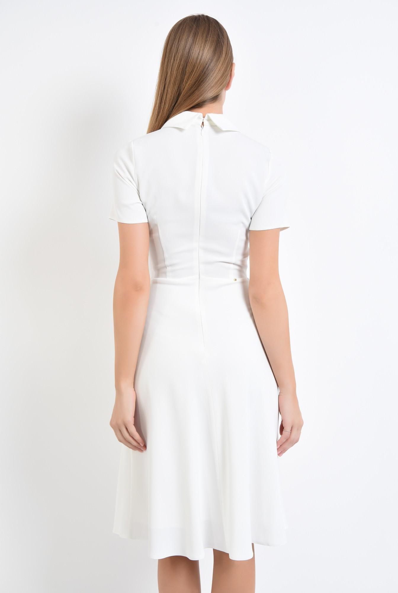 1 - 360 - rochie alba eleganta, bie, lungime medie