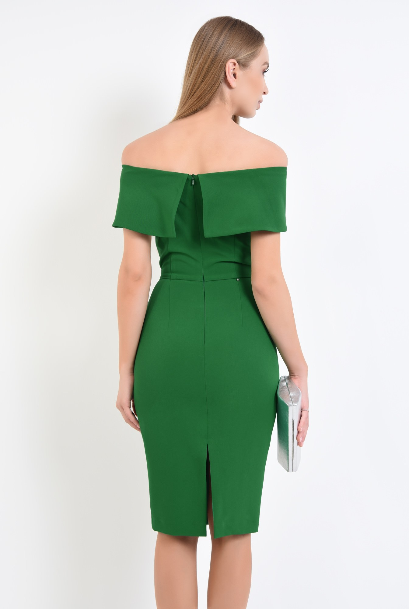 1 - rochie eleganta, conica, funda, brosa