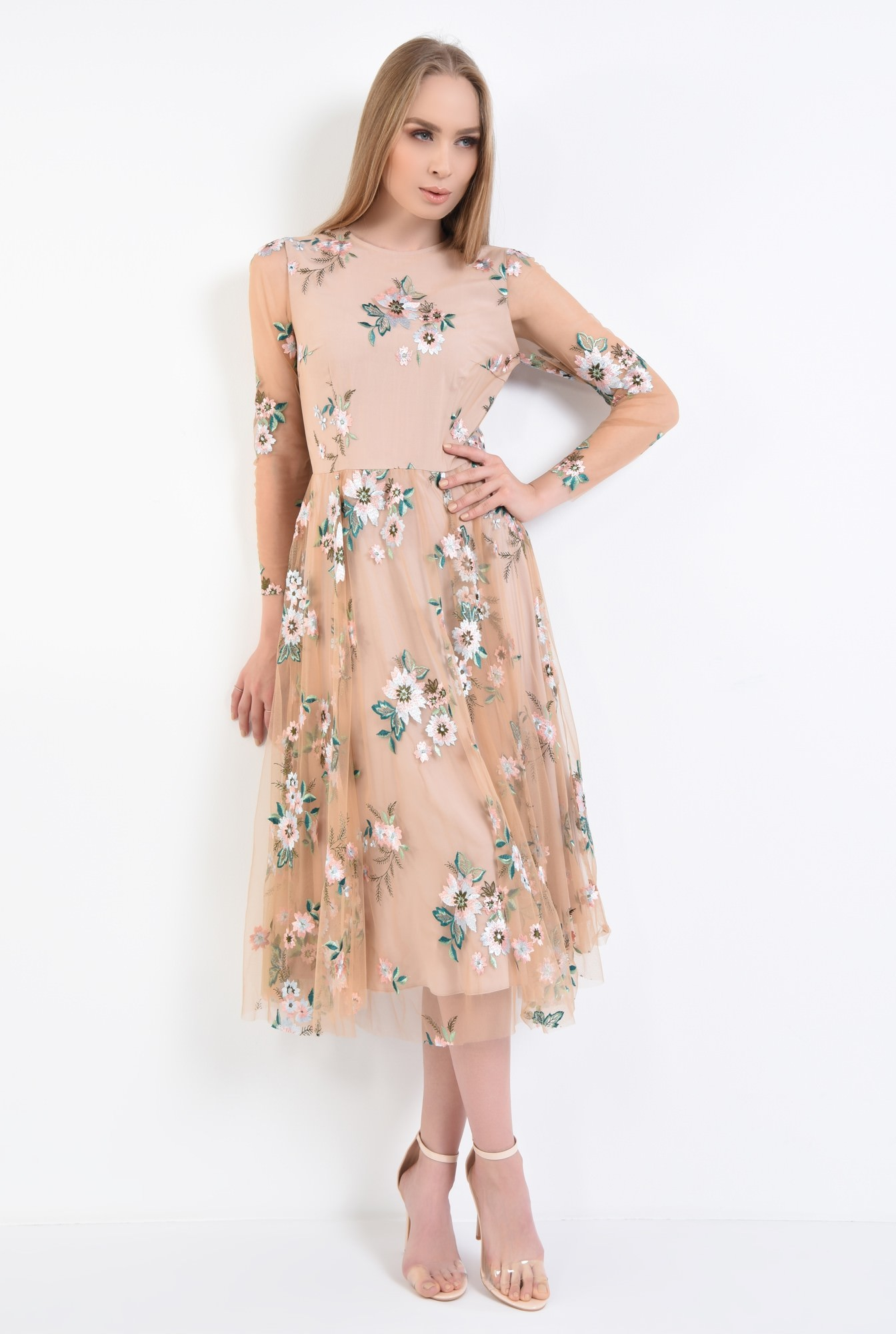 3 - Rochie eleganta maneci lungi