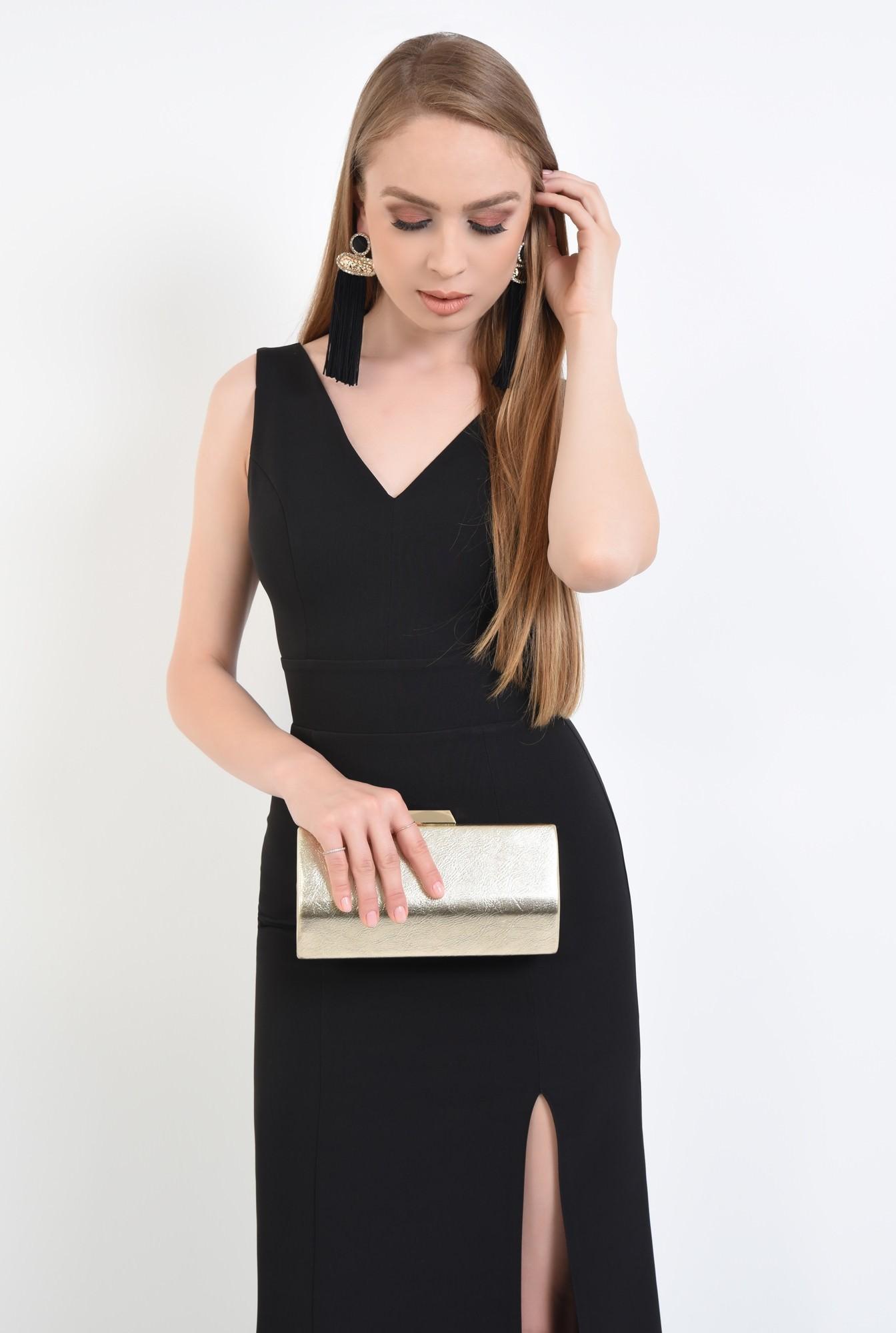 2 - rochie de seara, decolteu, anchior, negru, slit