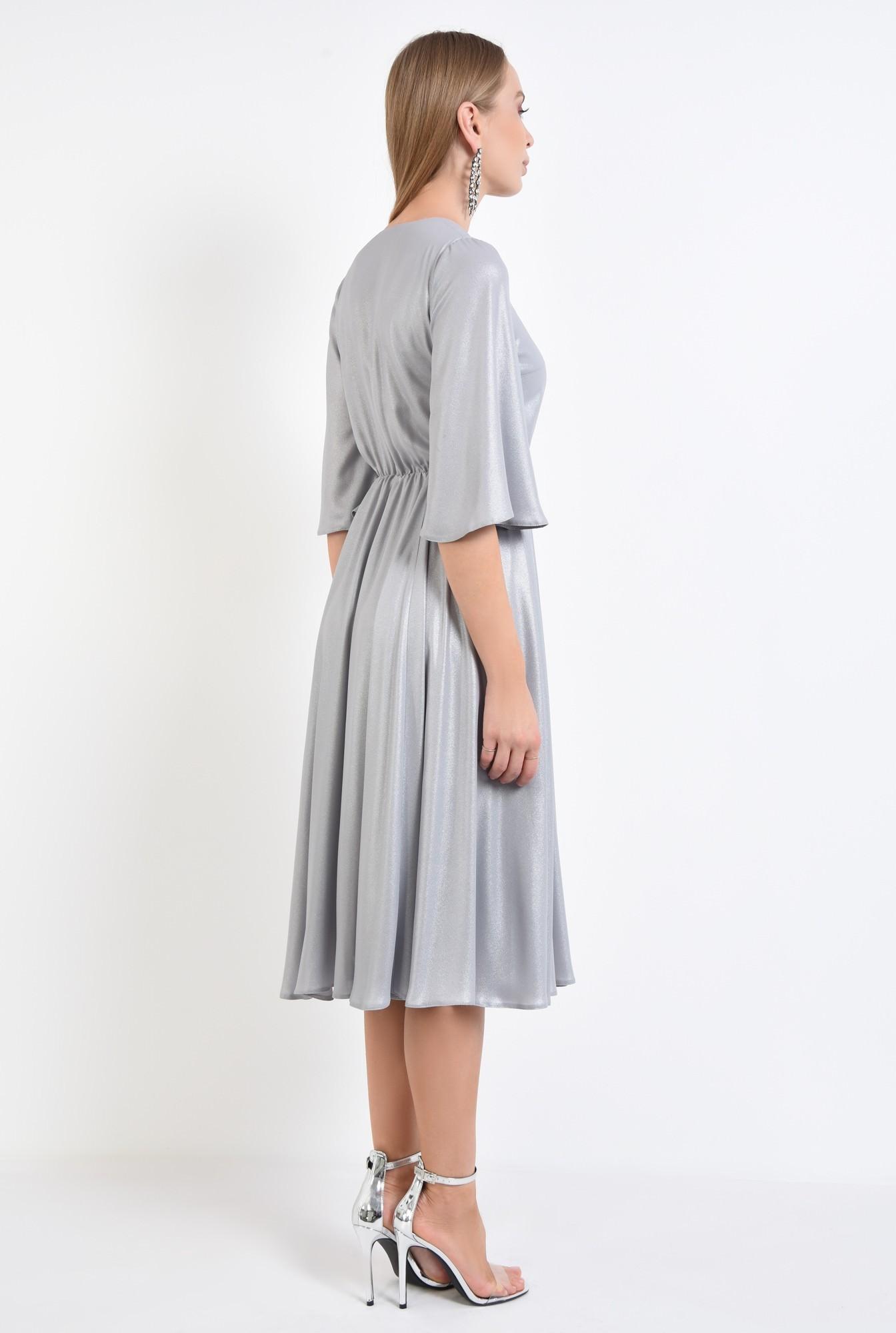 1 - rochie eleganta, clos, lurex, argintiu