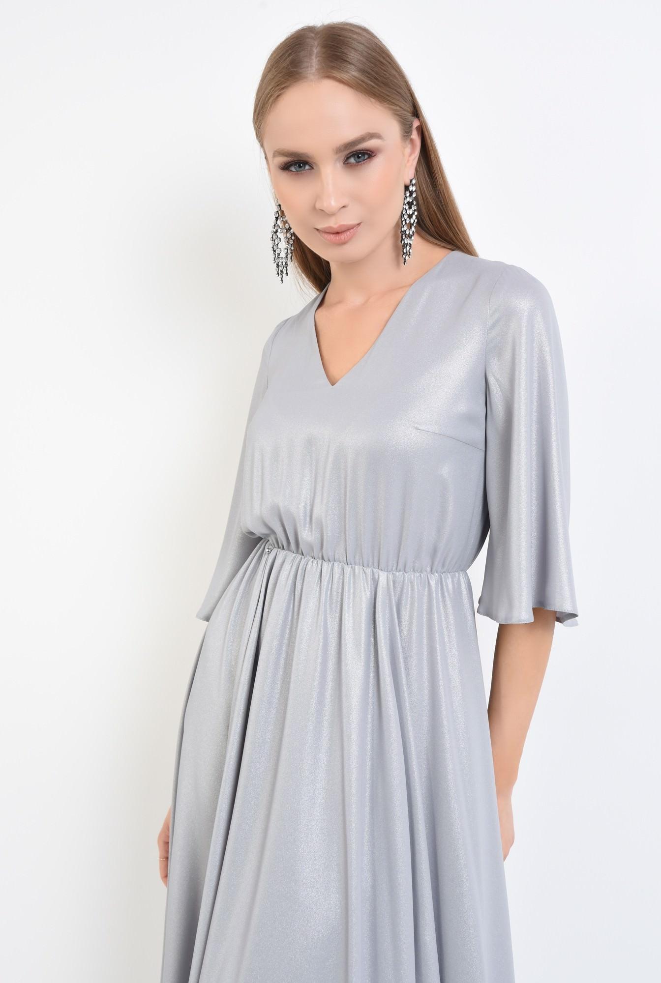 2 - rochie eleganta, clos, lurex, argintiu