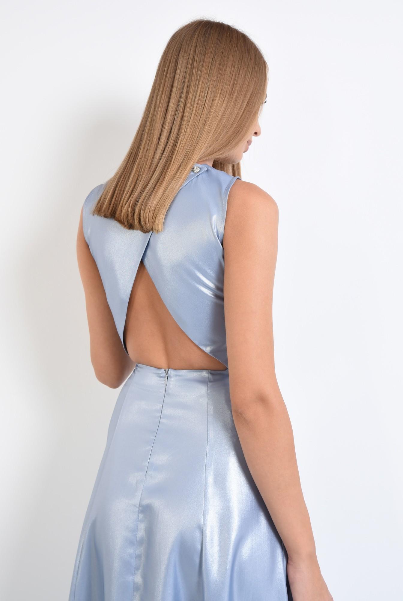 1 - rochie de seara, maxi, aspect metalic