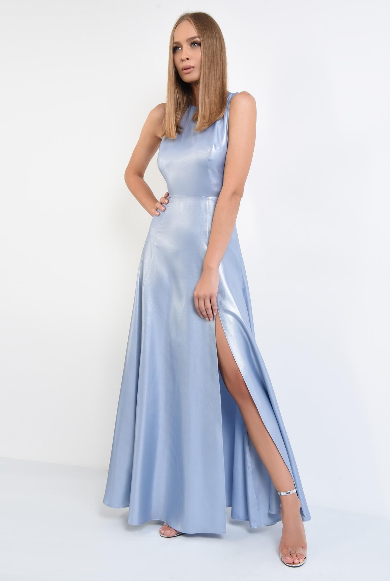 3 - rochie de seara, maxi, aspect metalic