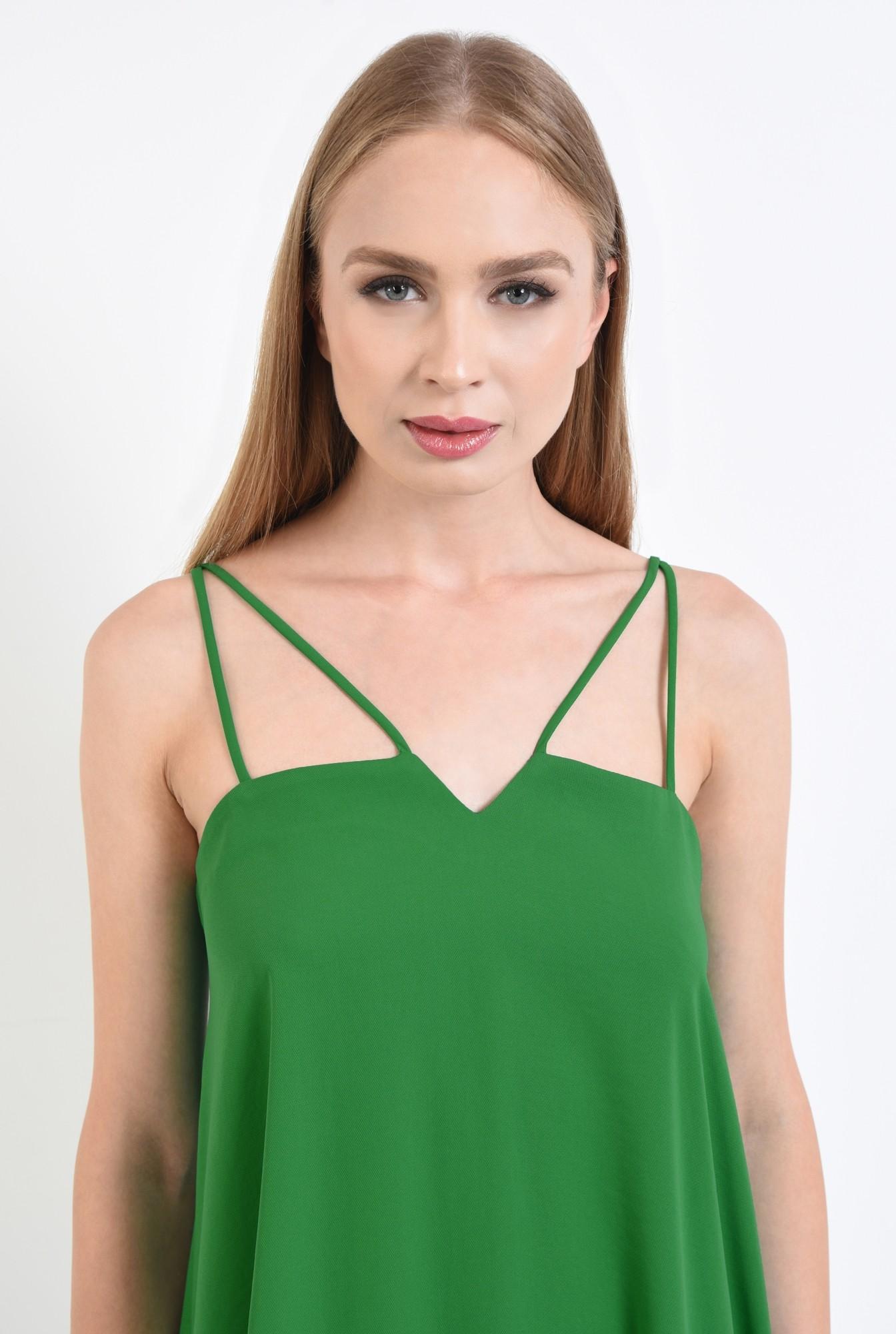 2 - rochie eleganta, scurta, bretele, verde