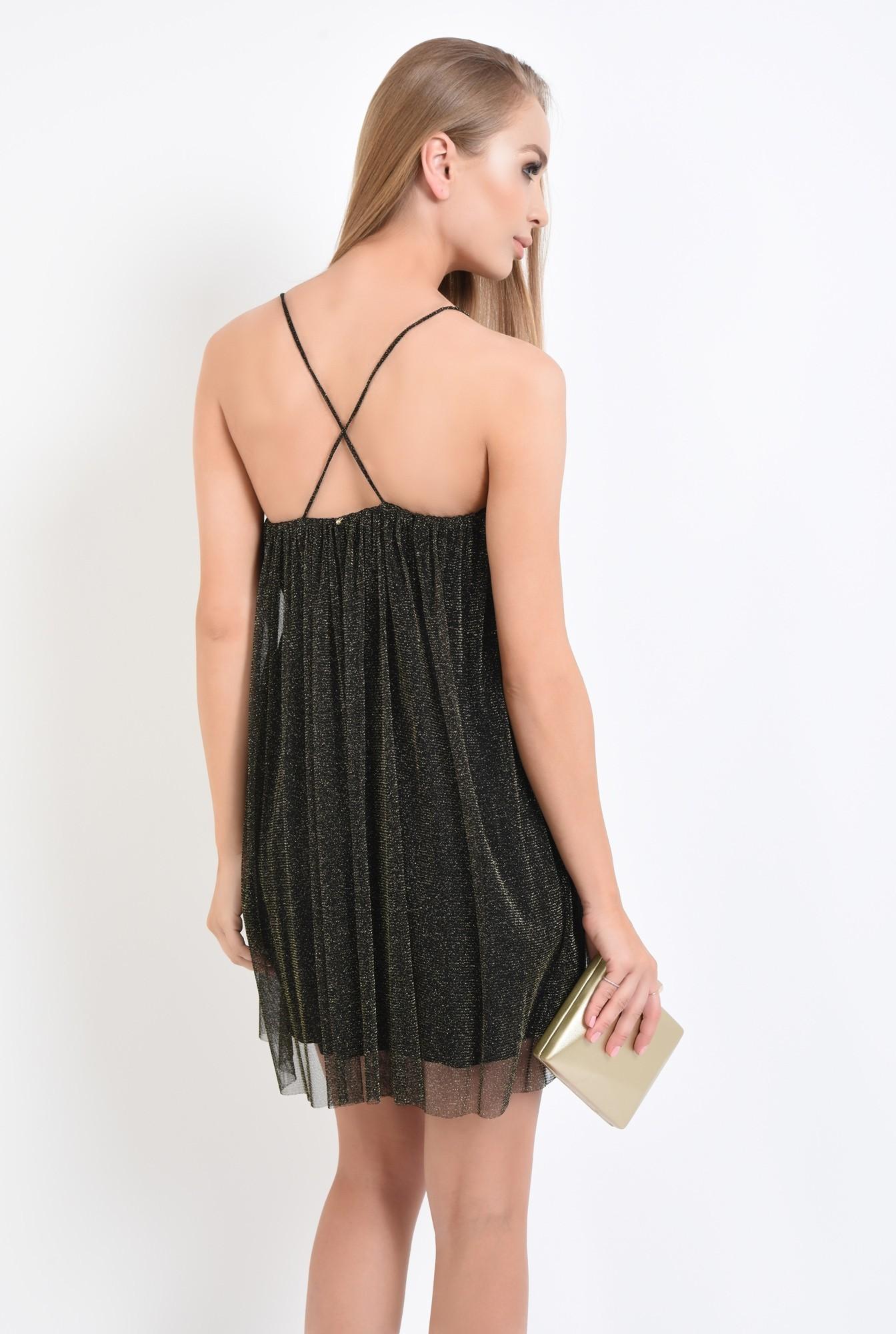 1 - rochie eleganta, negru, bretele subtiri, mini