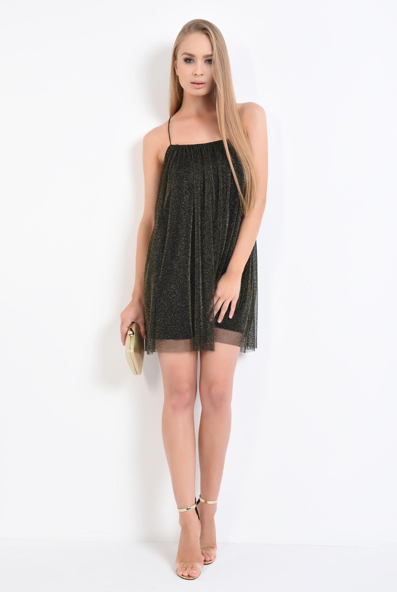3 - rochie eleganta, negru, bretele subtiri, mini