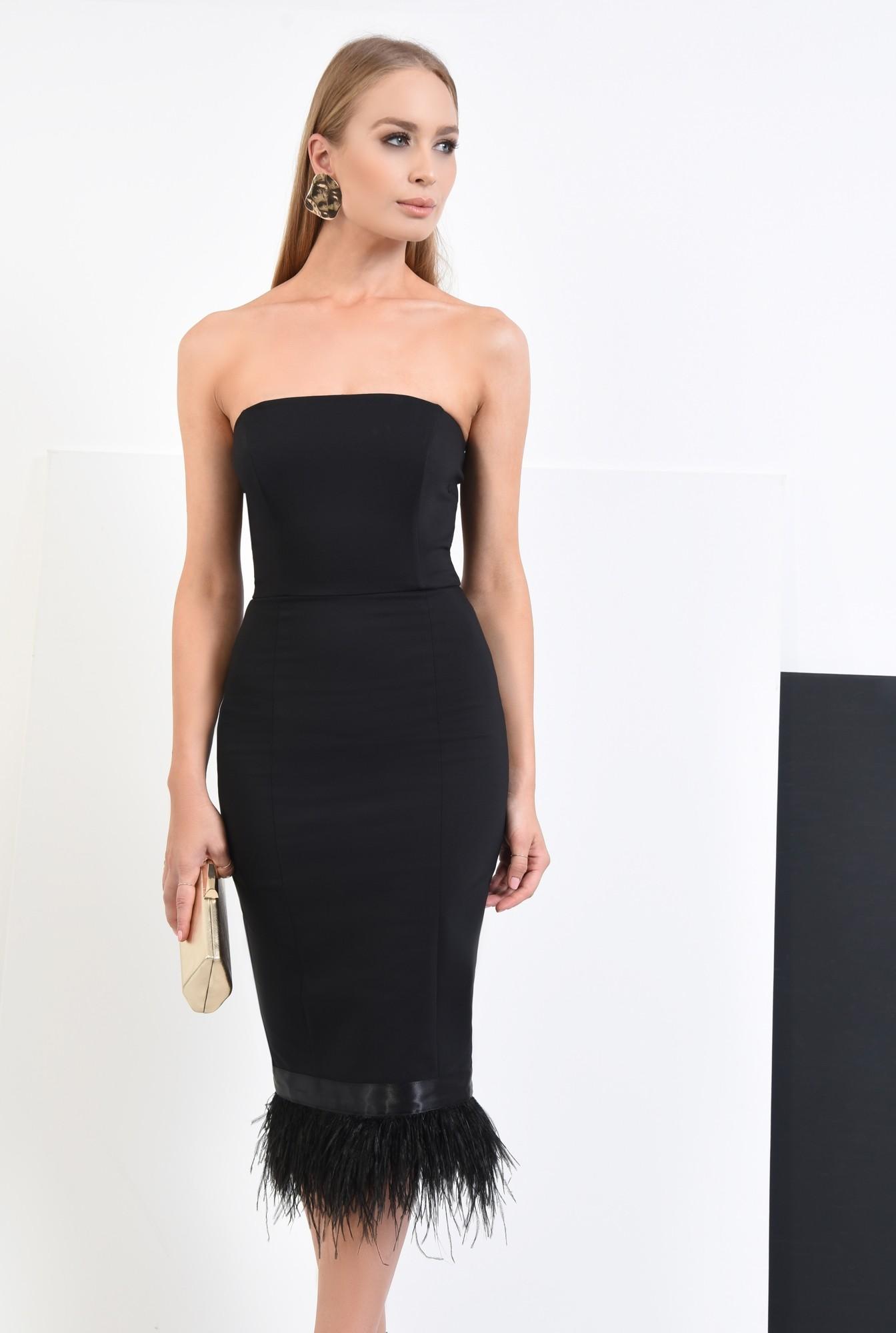 3 - rochie eleganta, negru, corset