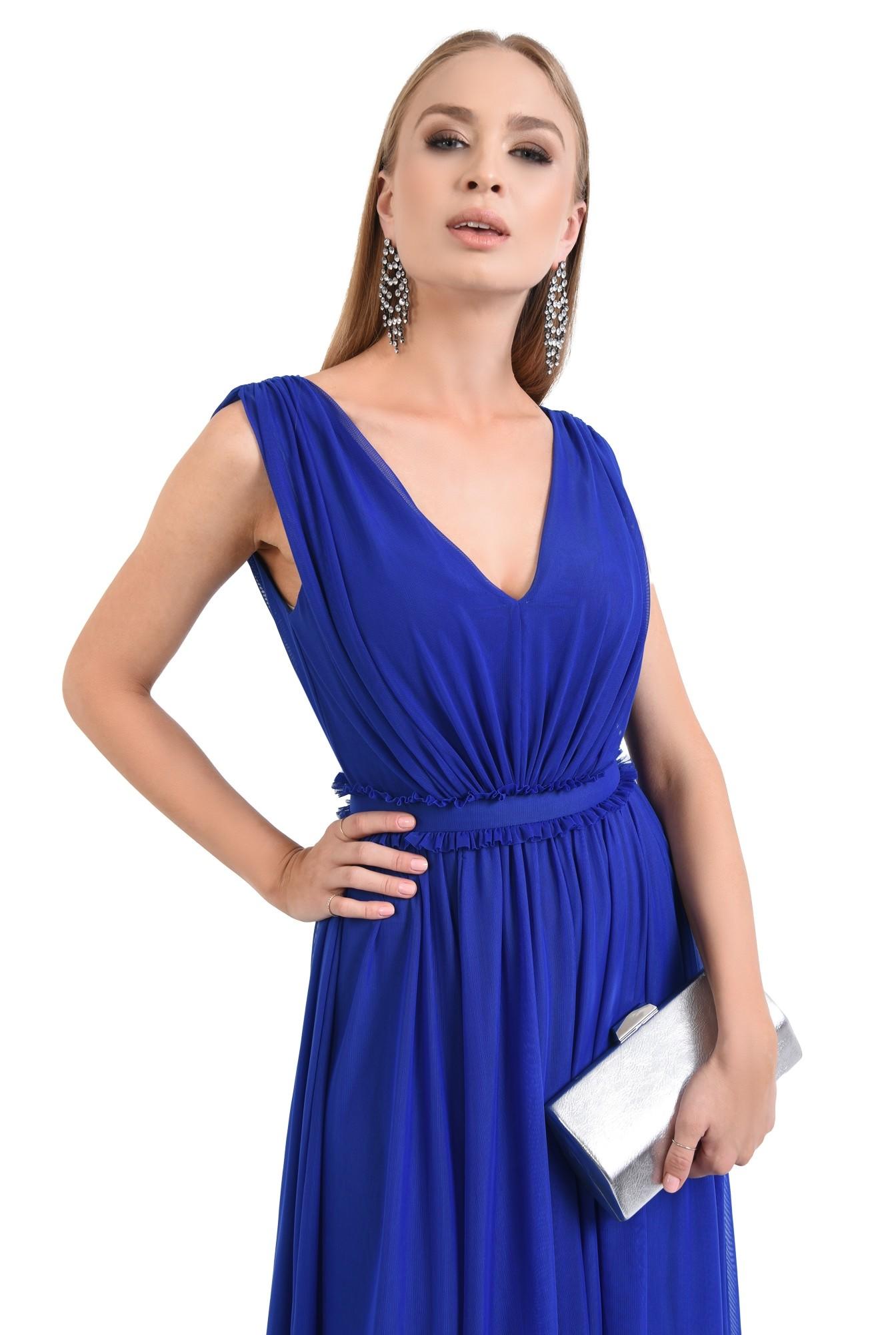 0 - 360 - rochie de seara, tul, albastru, clos, midi, rochii online