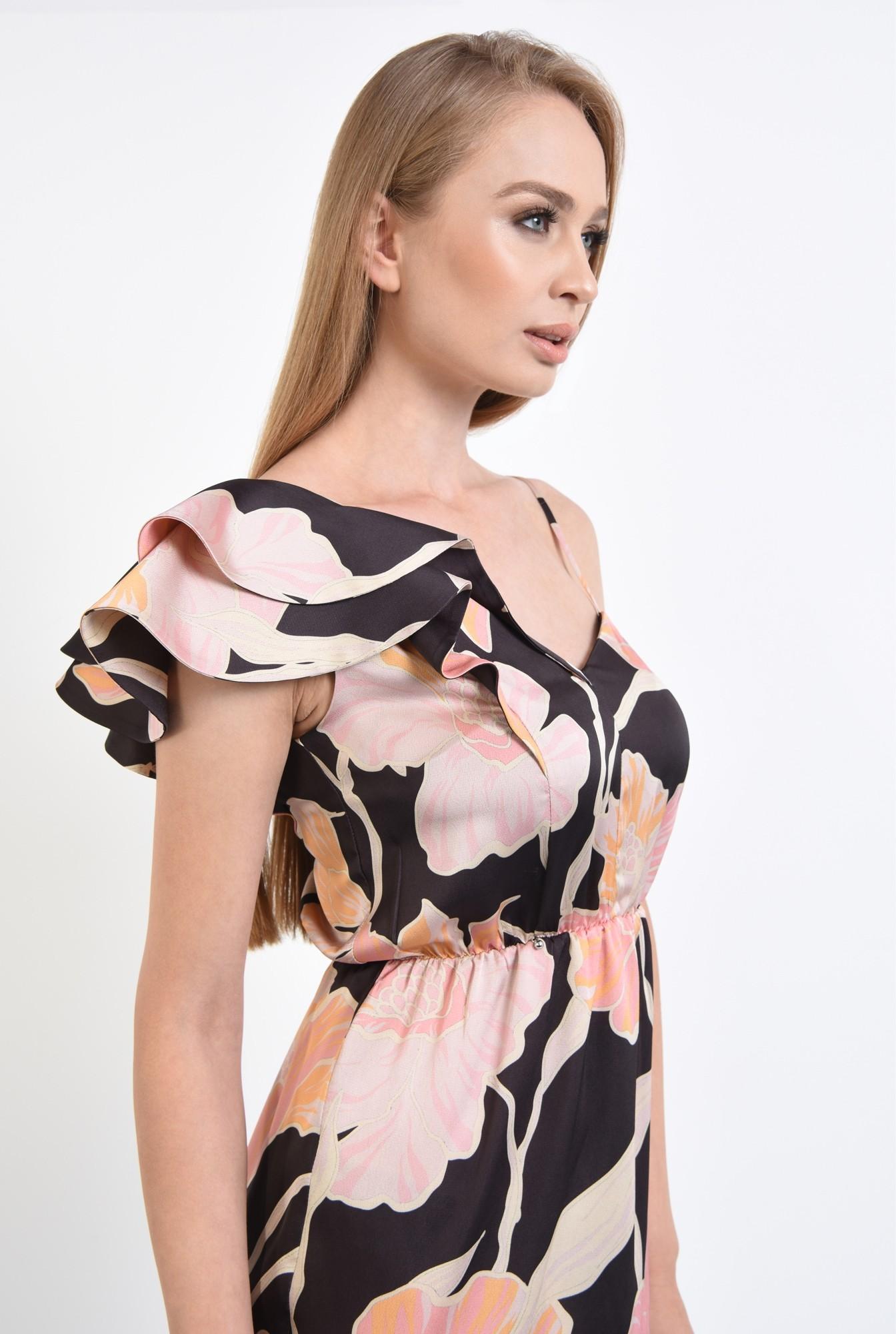 2 - rochie eleganta, midi, conica, imprimeu floral