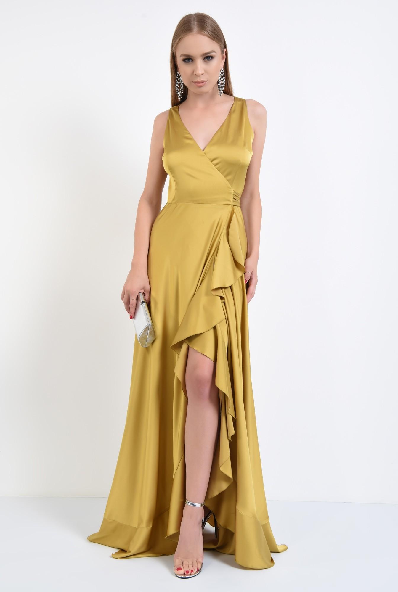 3 - rochie de seara, maxi, anchior, parte peste parte