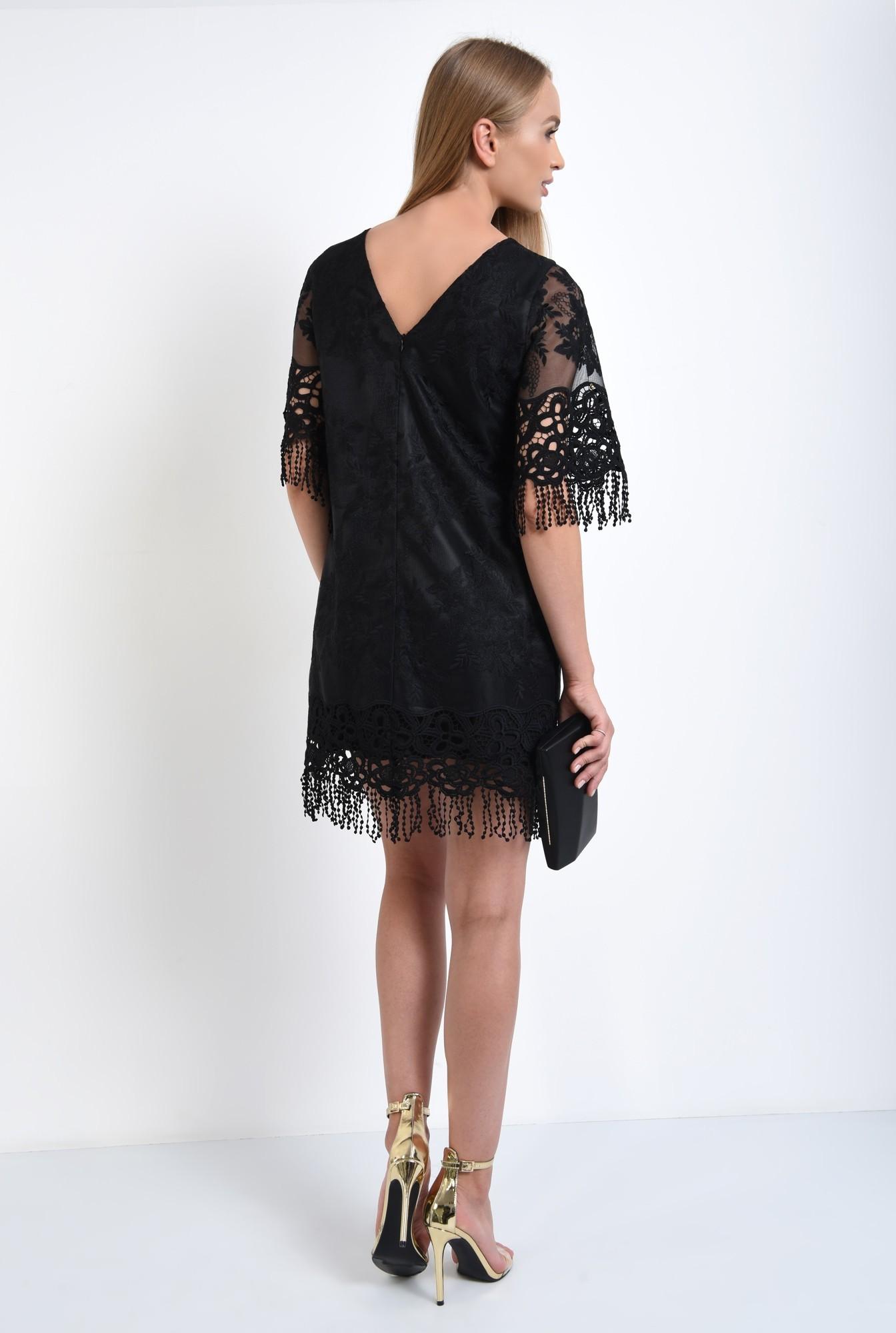 1 - rochie eleganta, dantela brodata, franjuri, rochii online