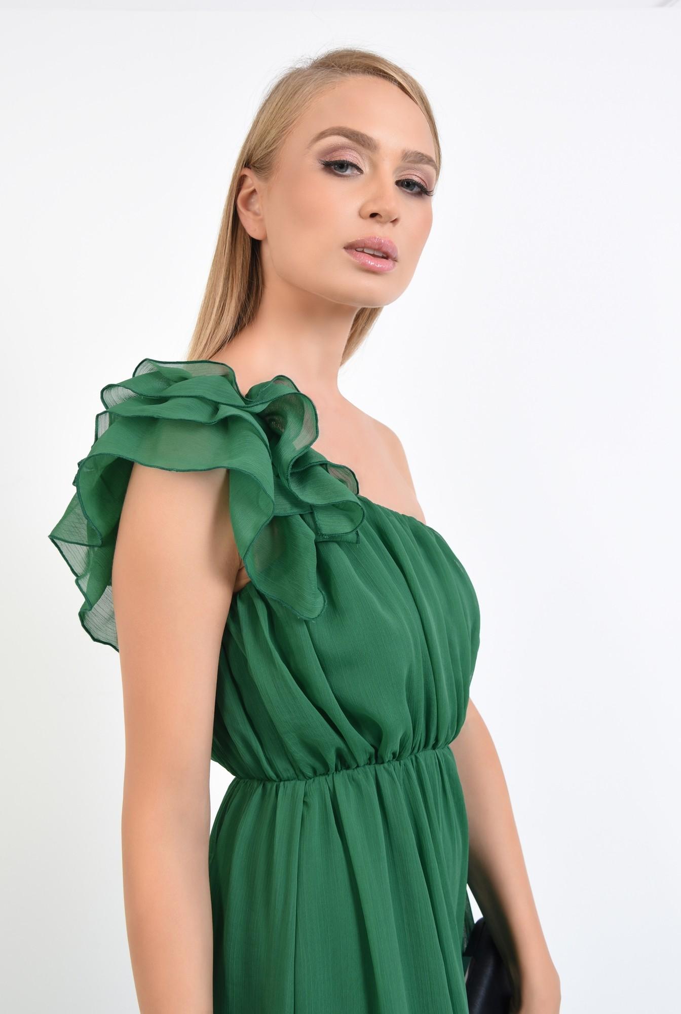 2 - rochie de seara, cu slit, din voal, croi evazat