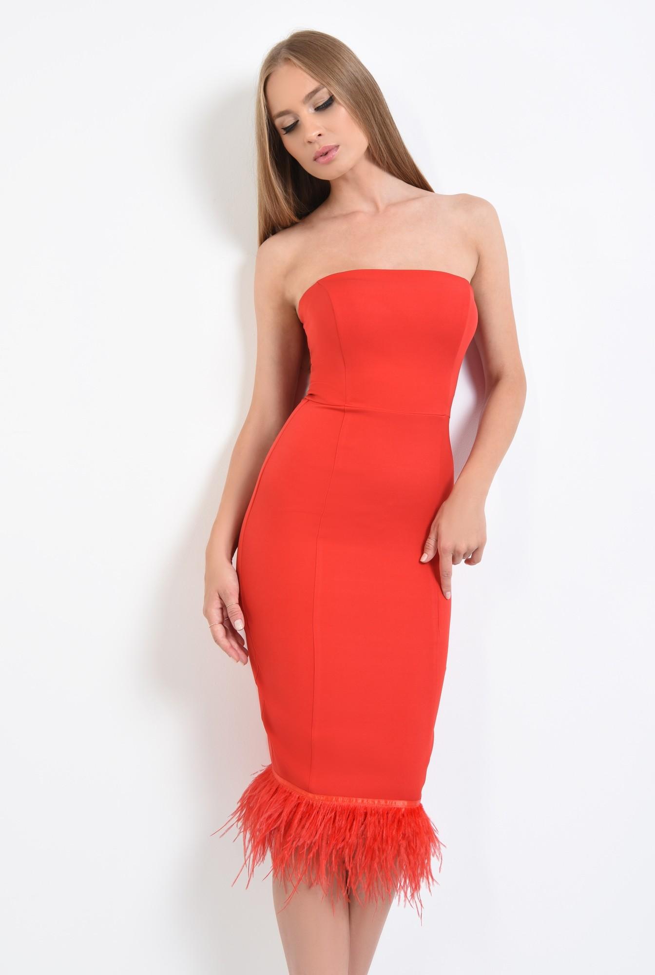 2 - rochie eleganta, rosu, corset