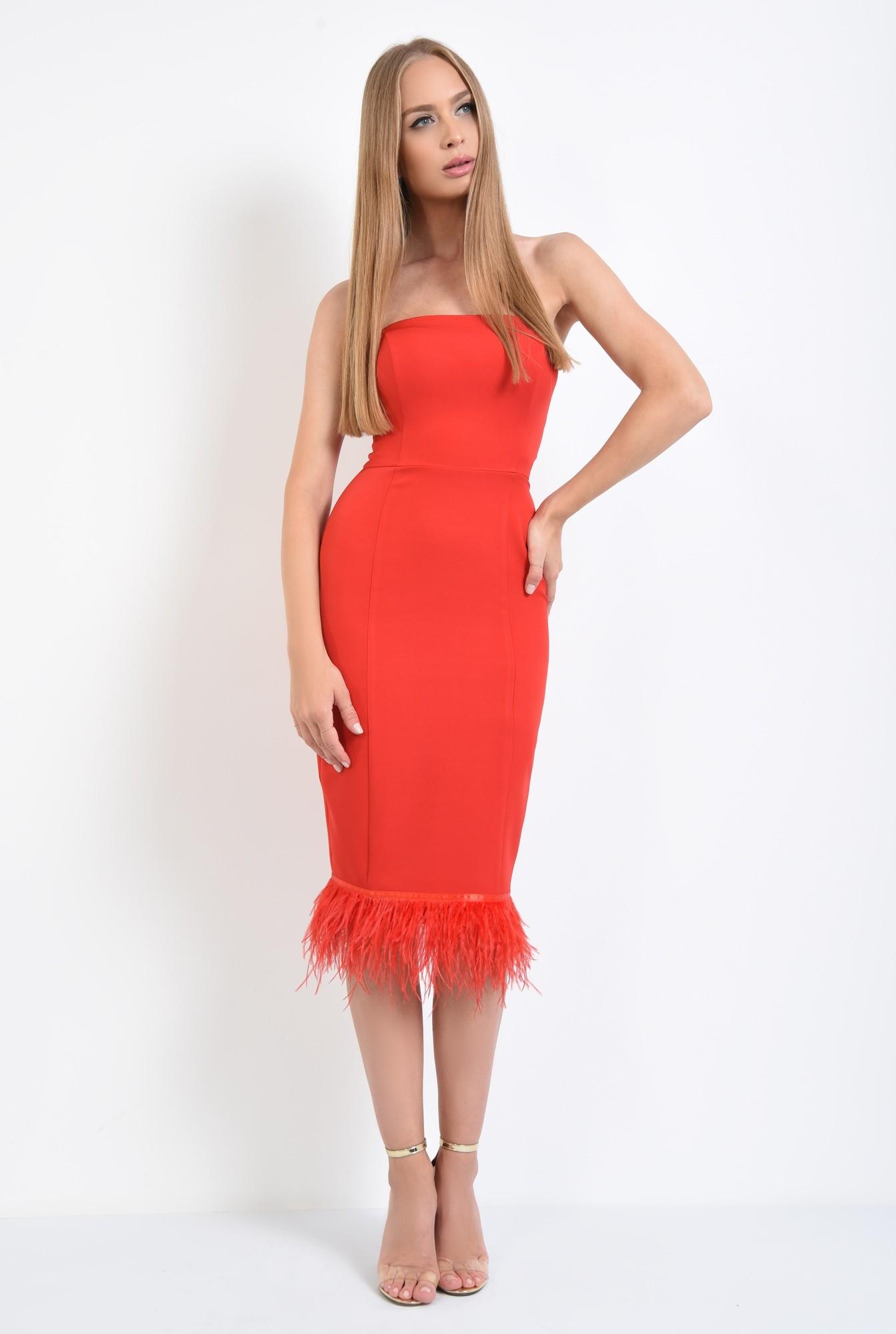 3 - rochie eleganta, rosu, corset
