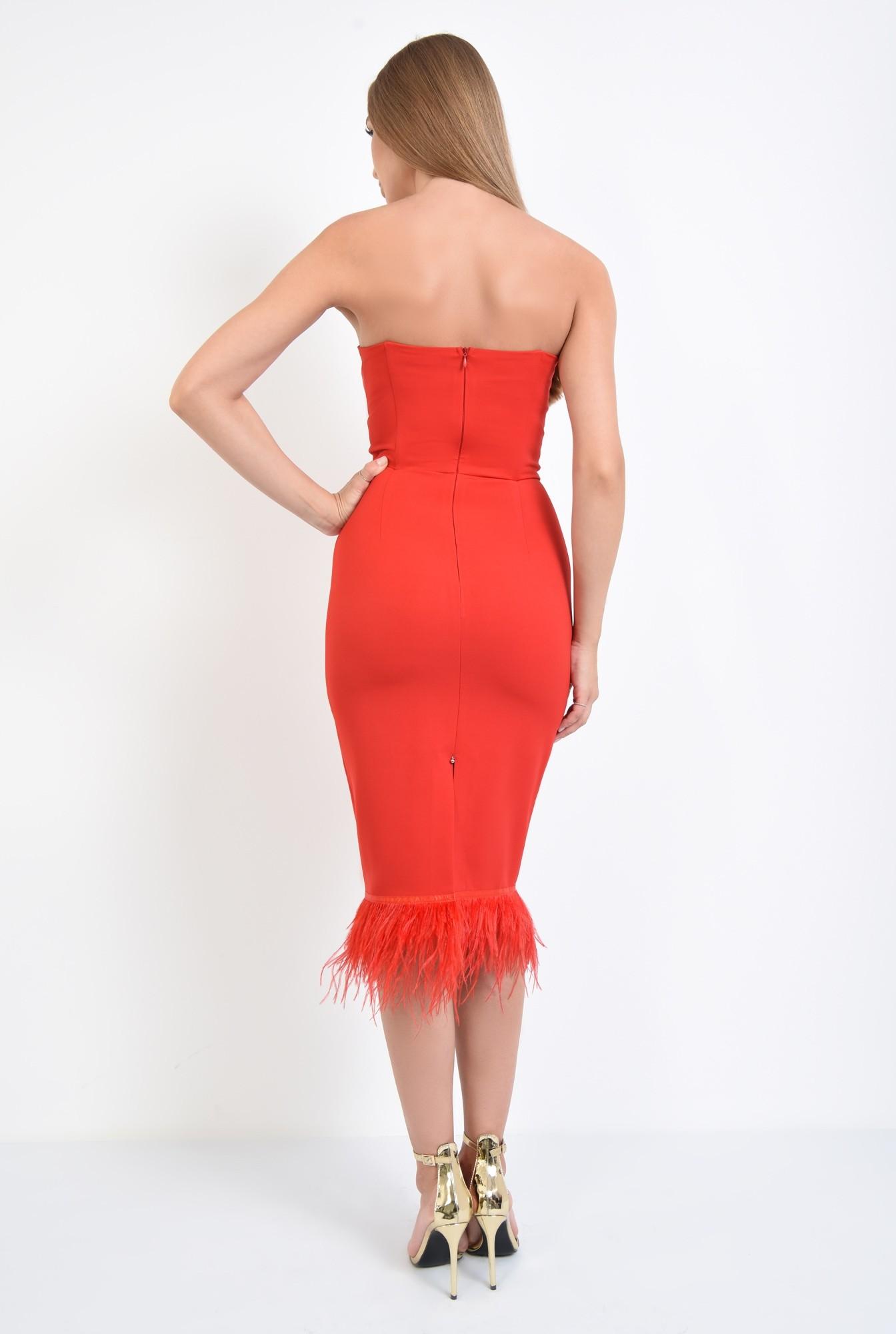 1 - rochie eleganta, rosu, corset