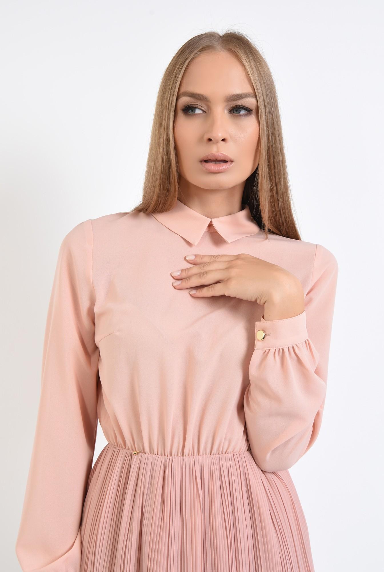 2 - 360 - rochie din voal plisata, clos, rochii online