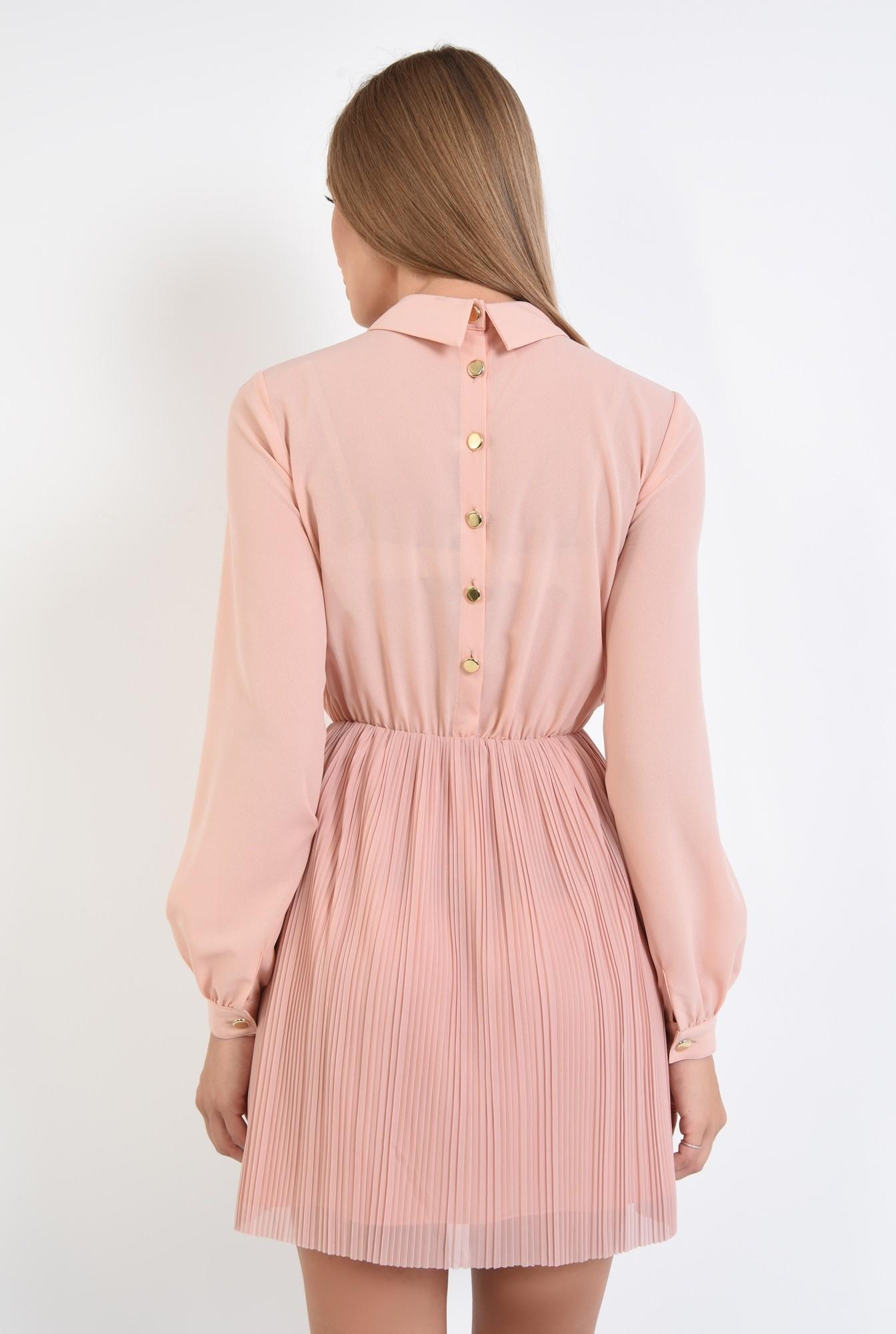 1 - 360 - rochie din voal plisata, clos, rochii online