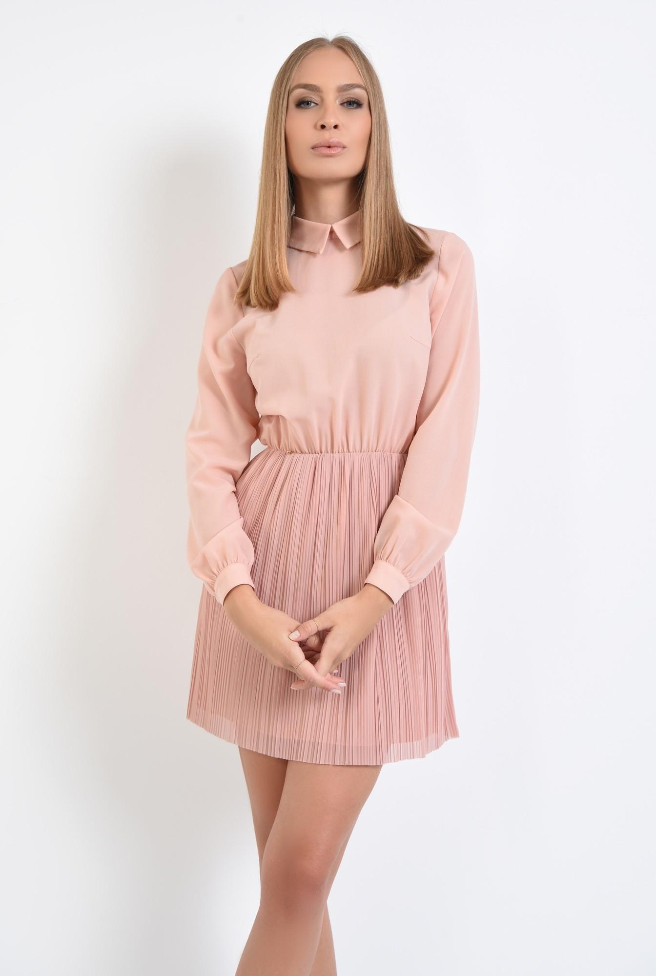 0 - 360 - rochie din voal plisata, clos, rochii online