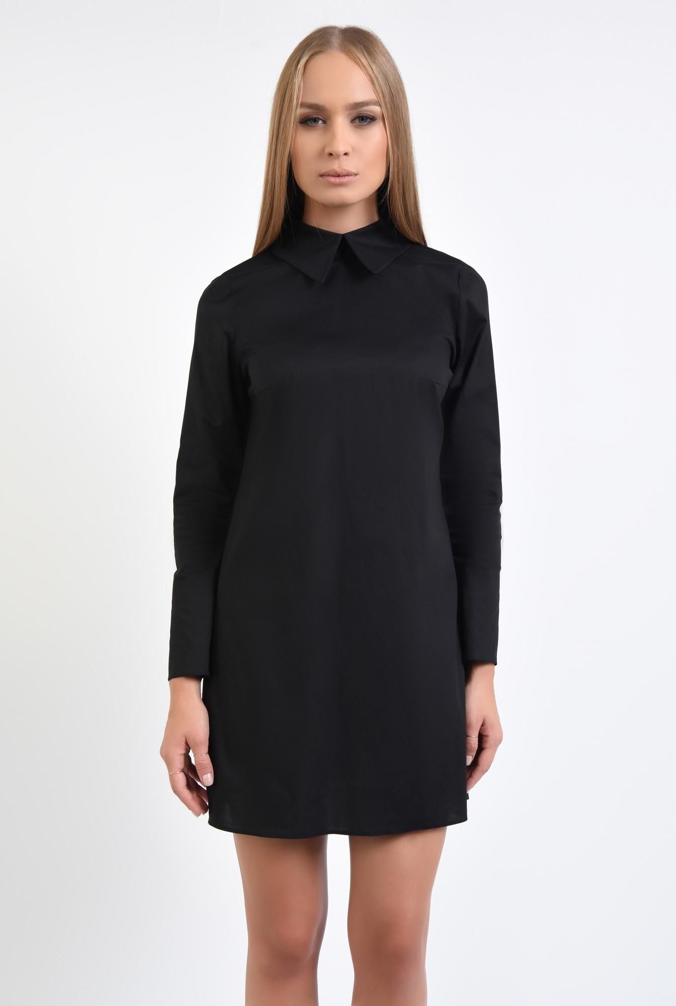 2 - rochie casual, stil camasa, guler ascutit, rochii online