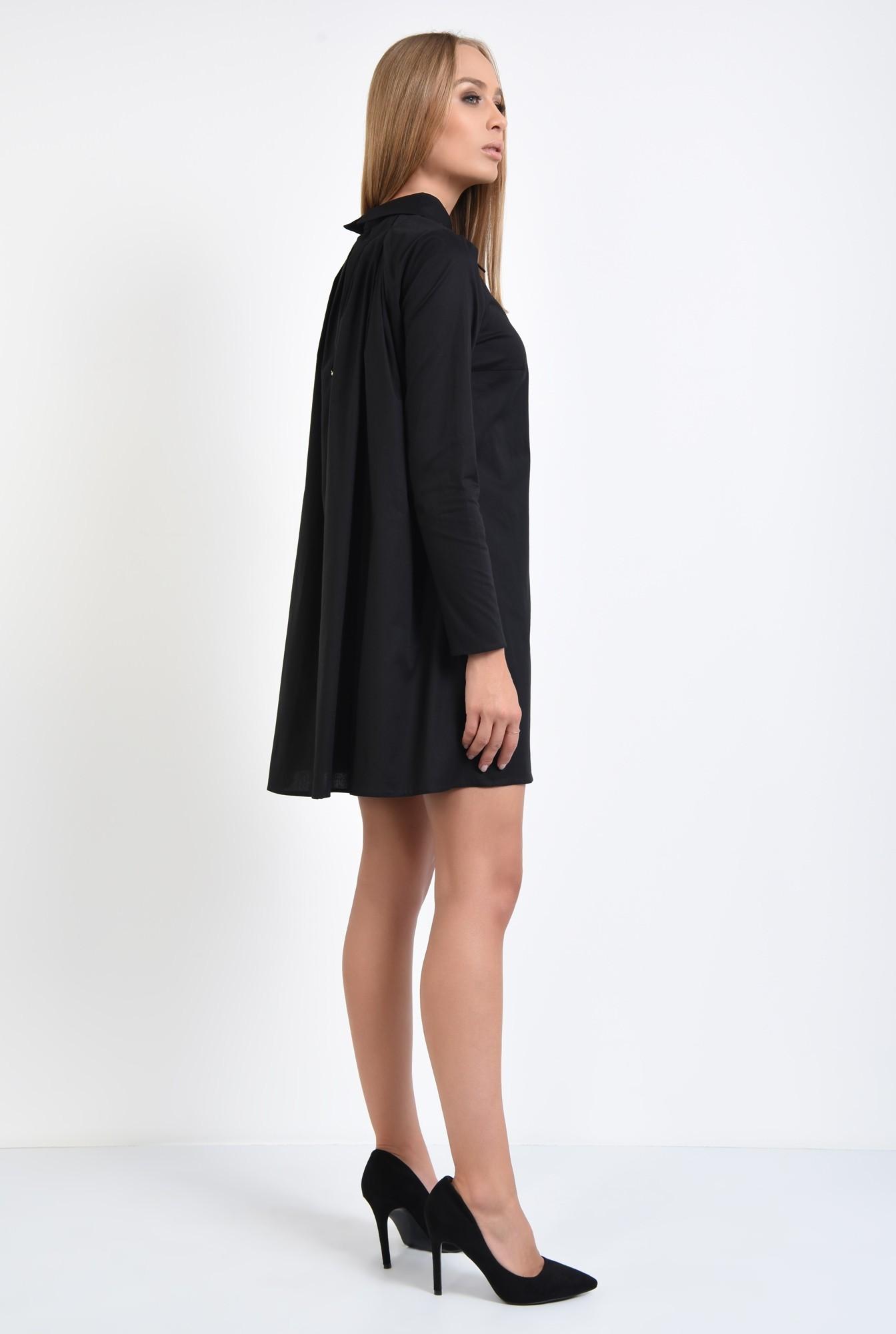 1 - rochie casual, stil camasa, guler ascutit, rochii online