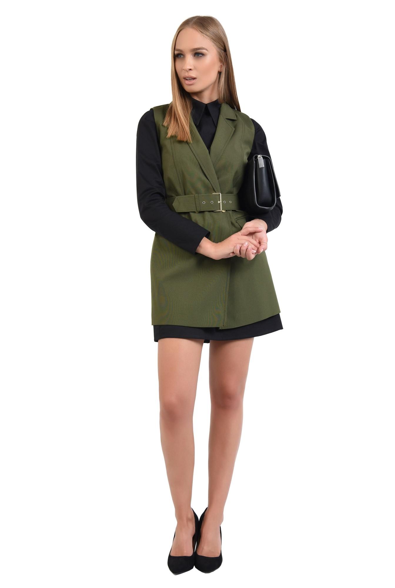 0 - rochie casual, stil camasa, guler ascutit, rochii online